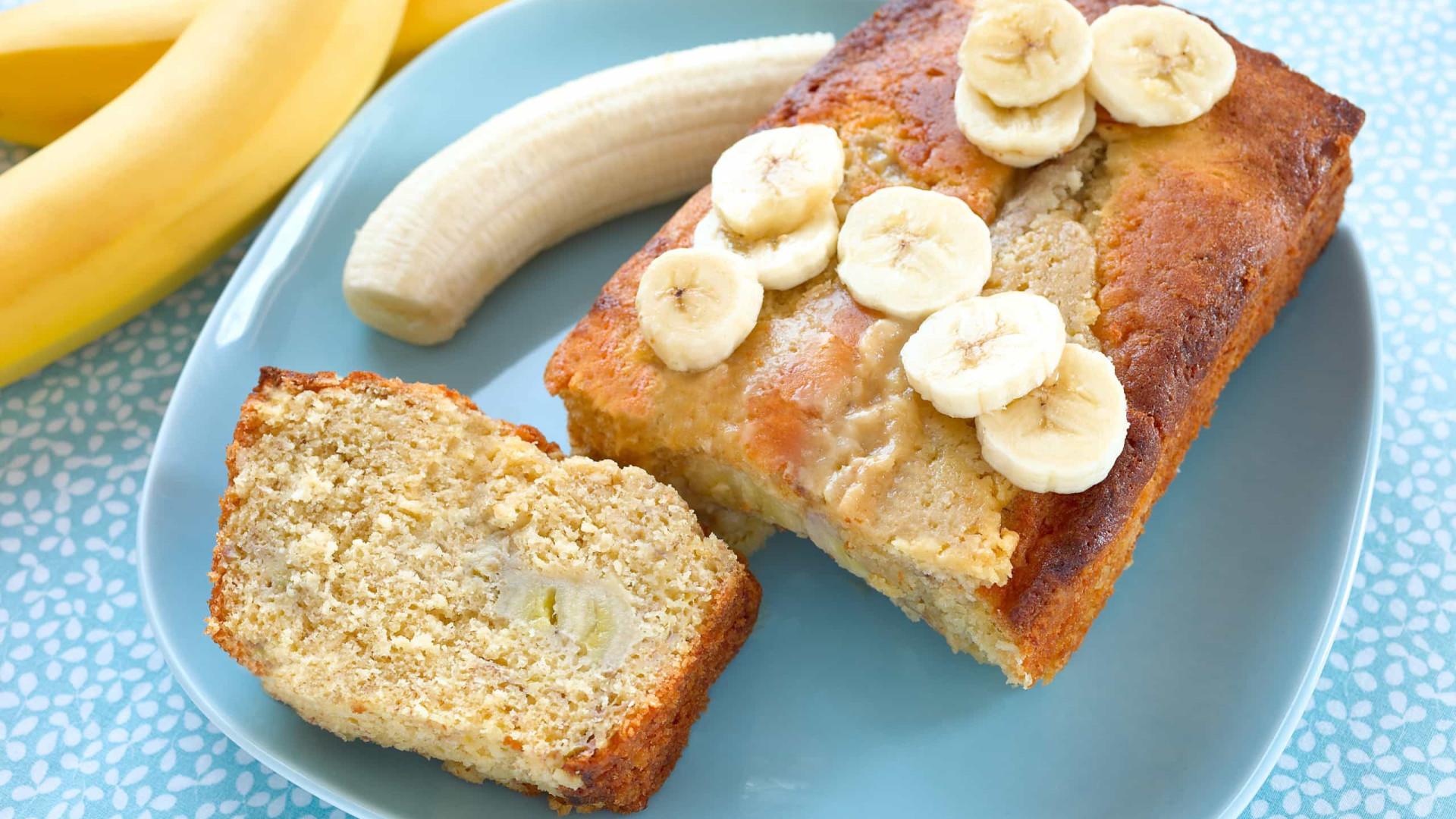 Bolo de banana light. Uma delícia sem culpas!
