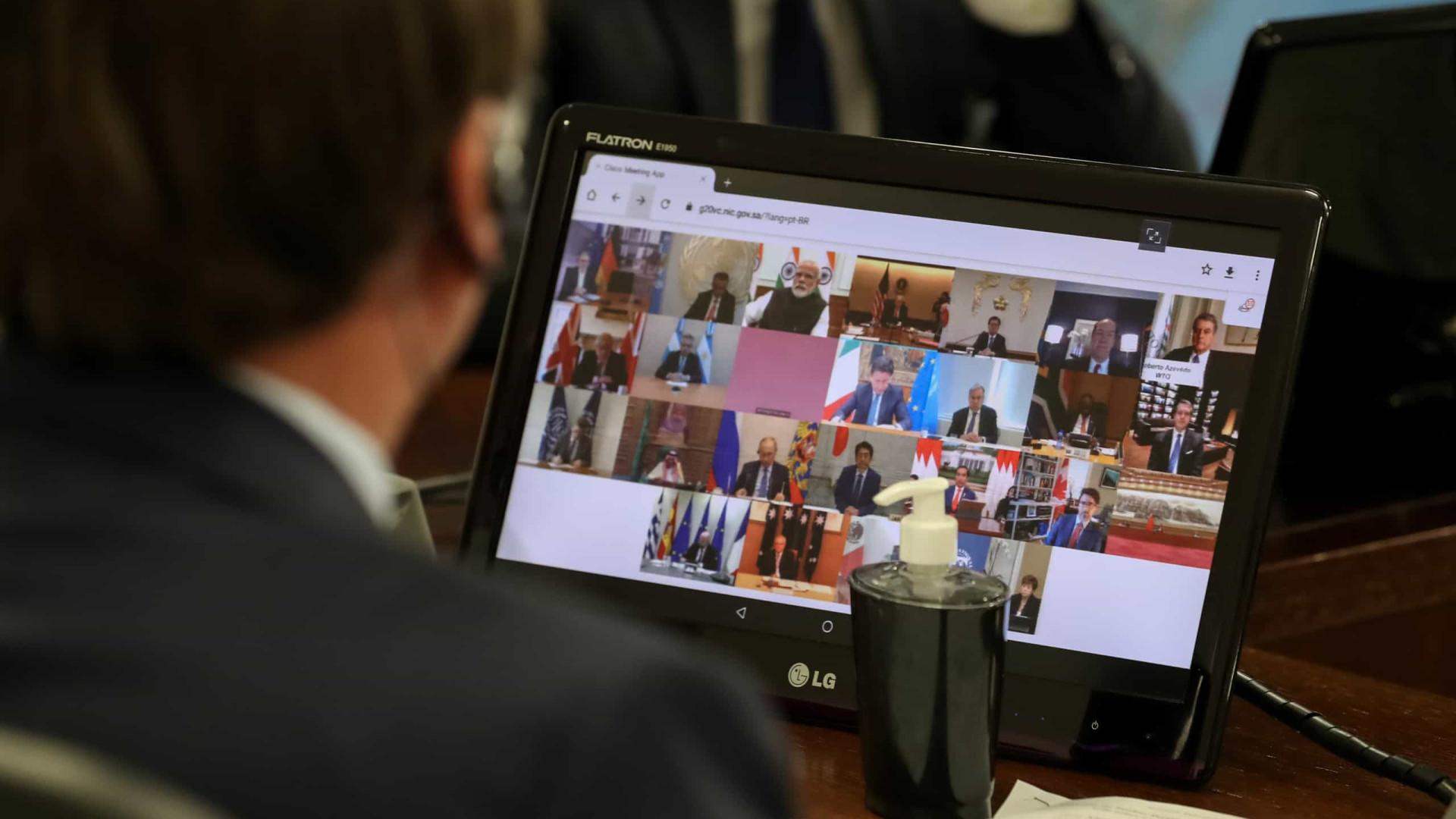 Em reunião do G20, Bolsonaro fala em proteção de empregos