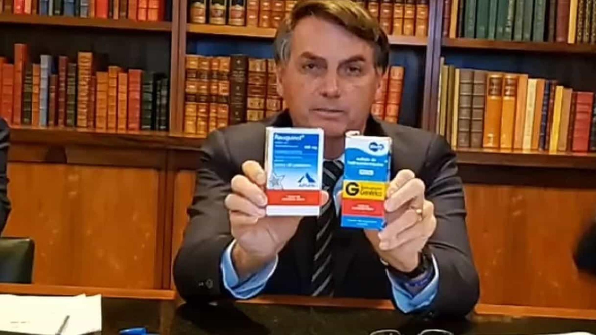 Bolsonaro reconhece que não existe remédio com eficácia comprovada