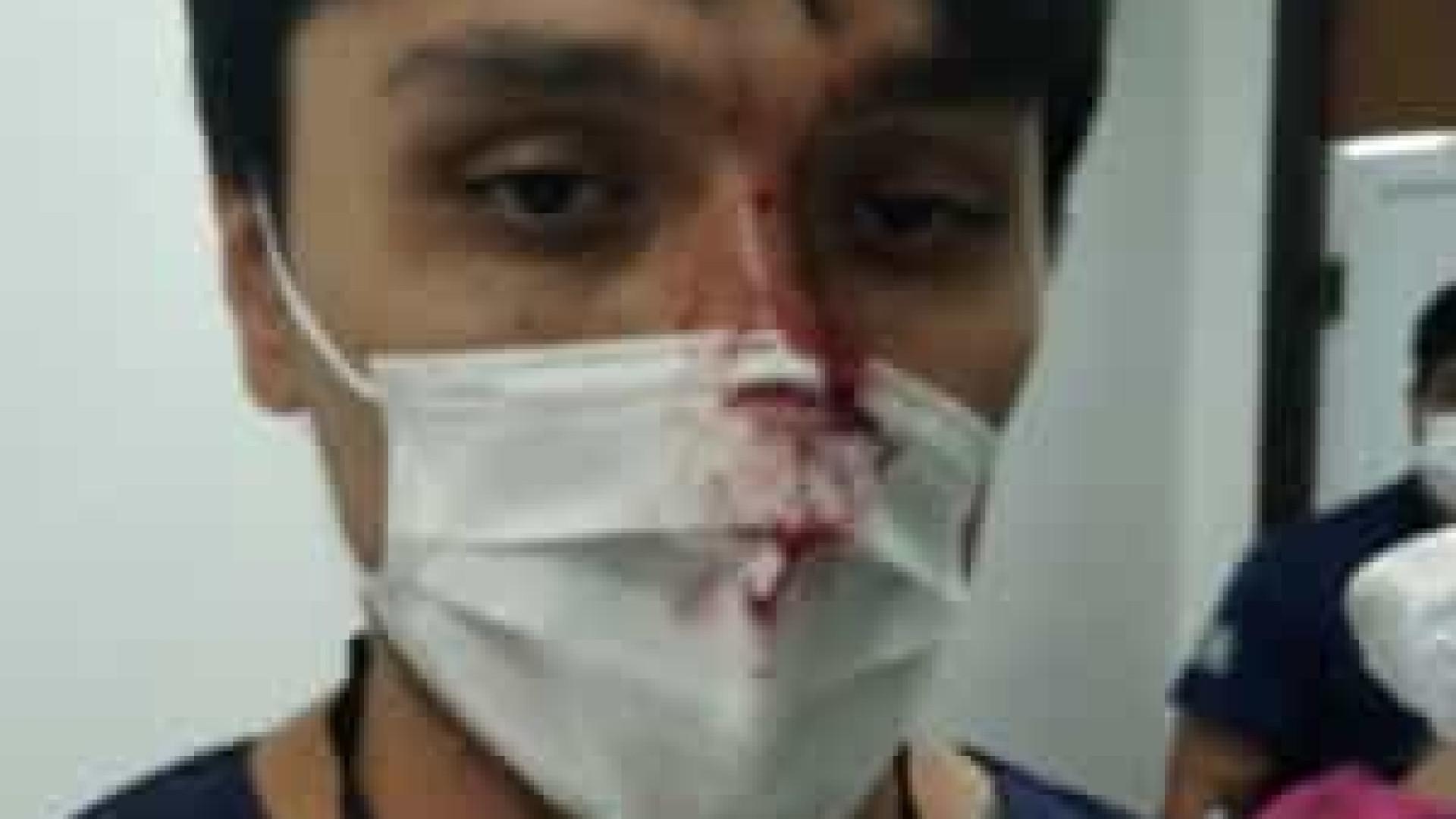 Curitiba: revoltado com diagnóstico, paciente cospe e dá soco em médico