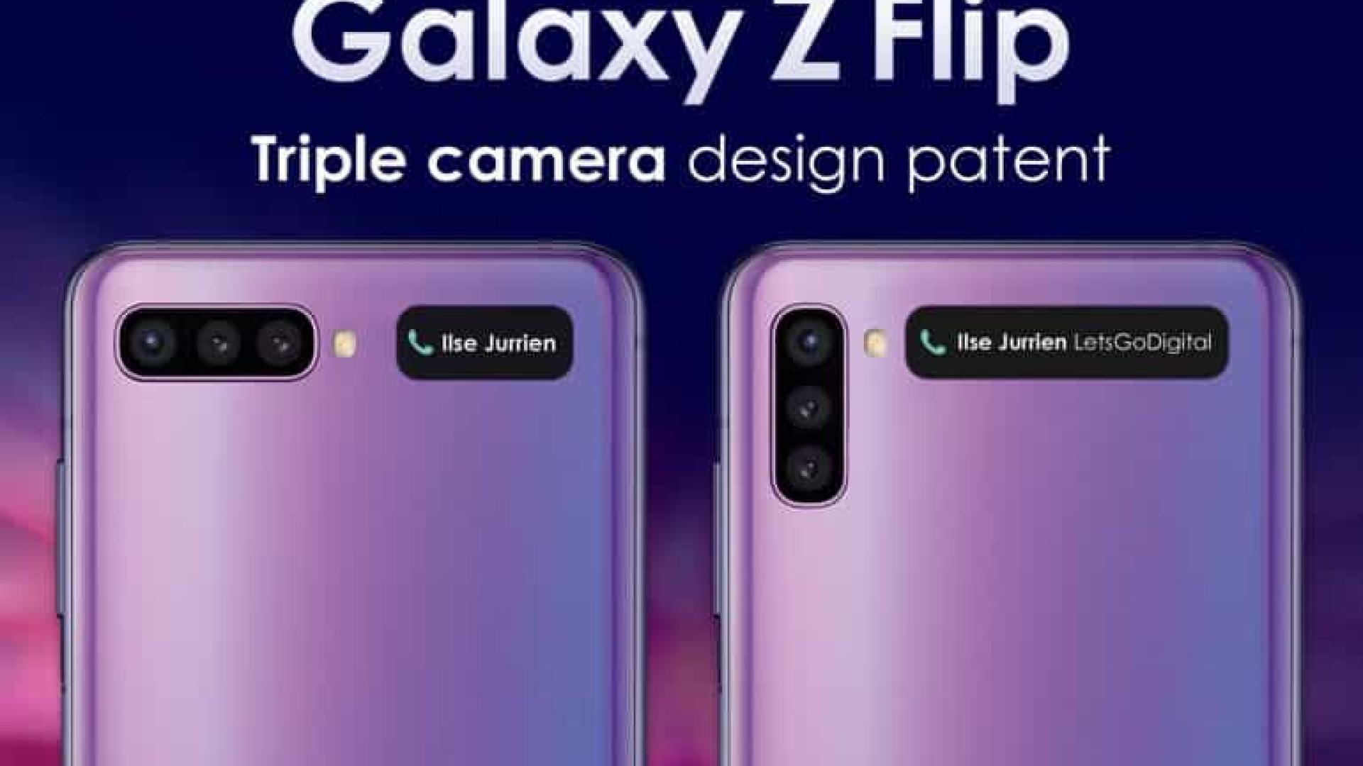 Novo smartphone dobrável da Samsung terá câmera tripla