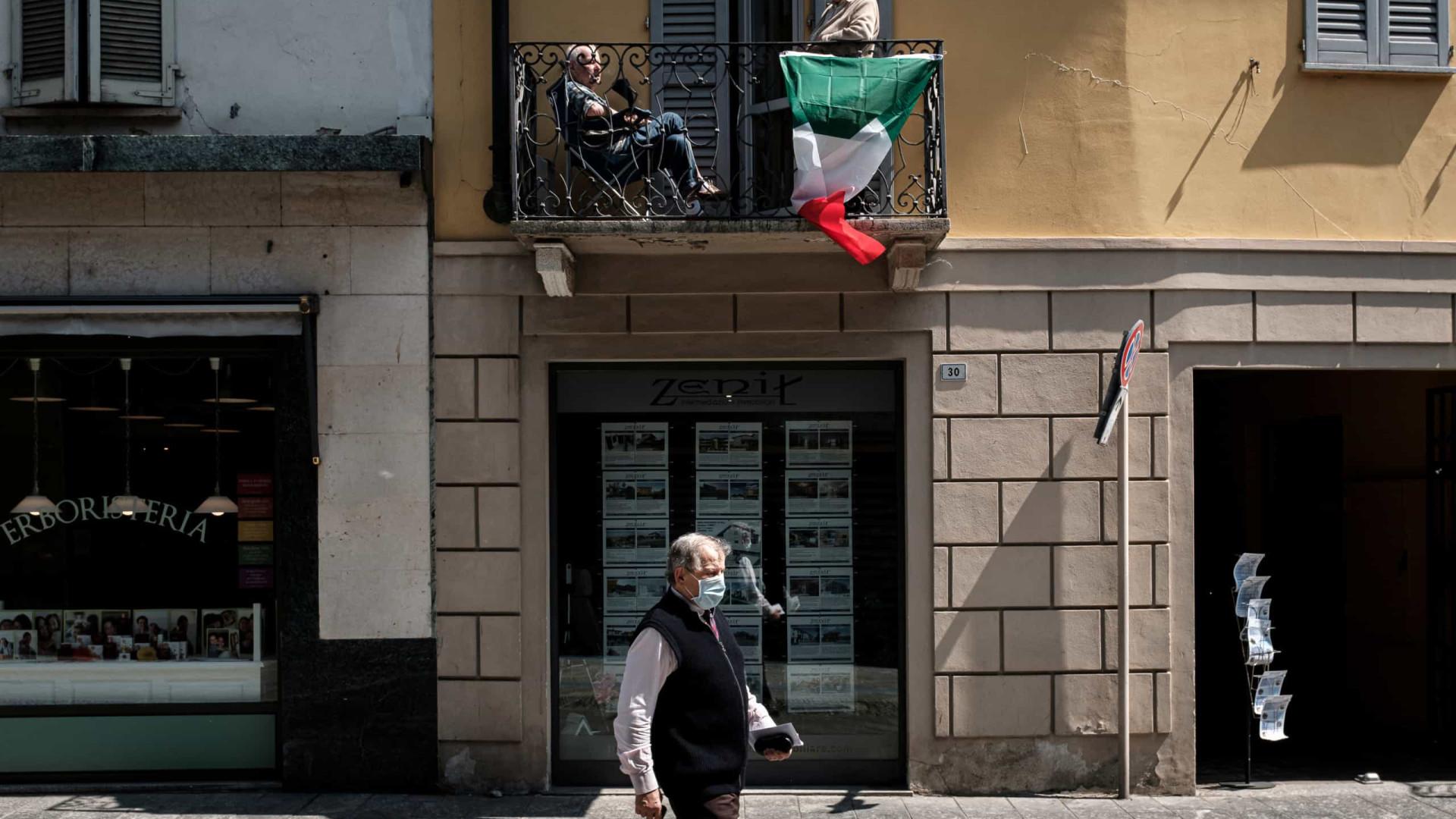 Itália com 177 novos casos, número diário mais baixo desde 1º de março