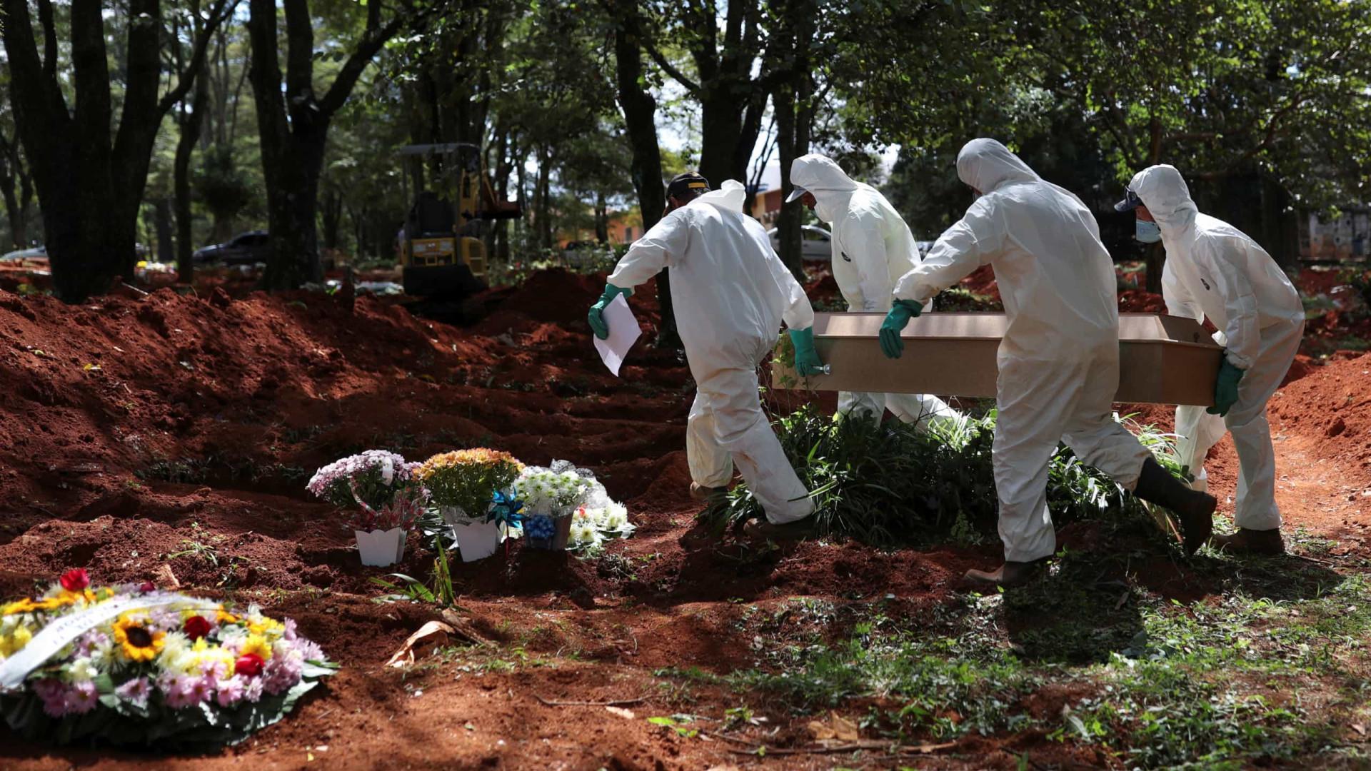 País vê média de mortes acima de mil há 32 dias, maior período da pandemia