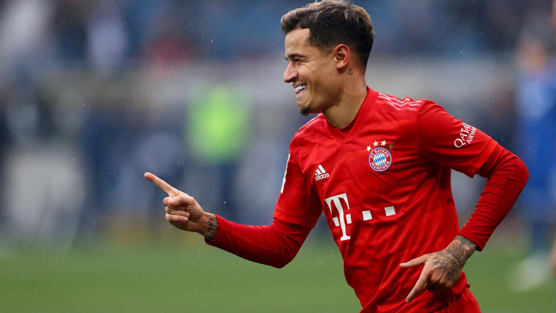 Coutinho ganha 2ª taça pelo Bayern com só 36 minutos em campo