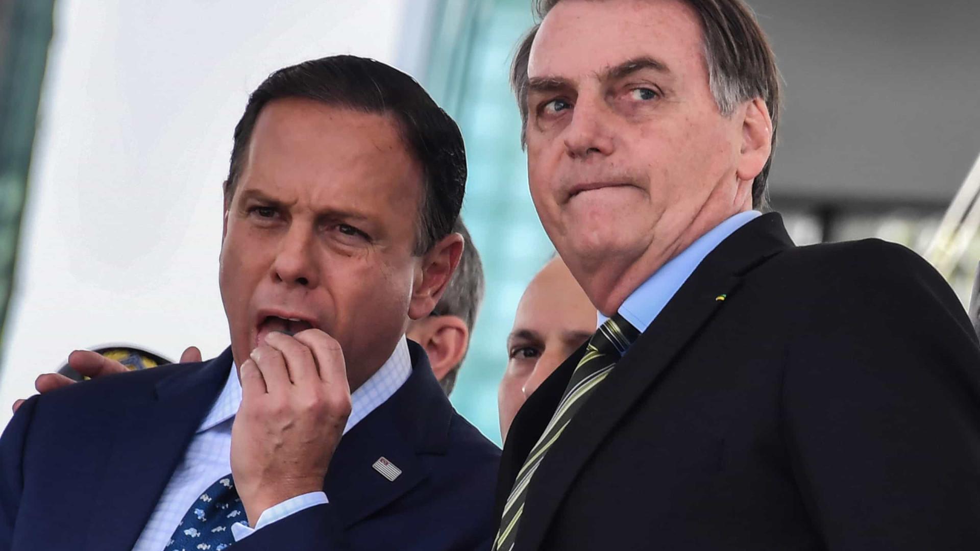 Doria pede reunião em clima de paz com Bolsonaro