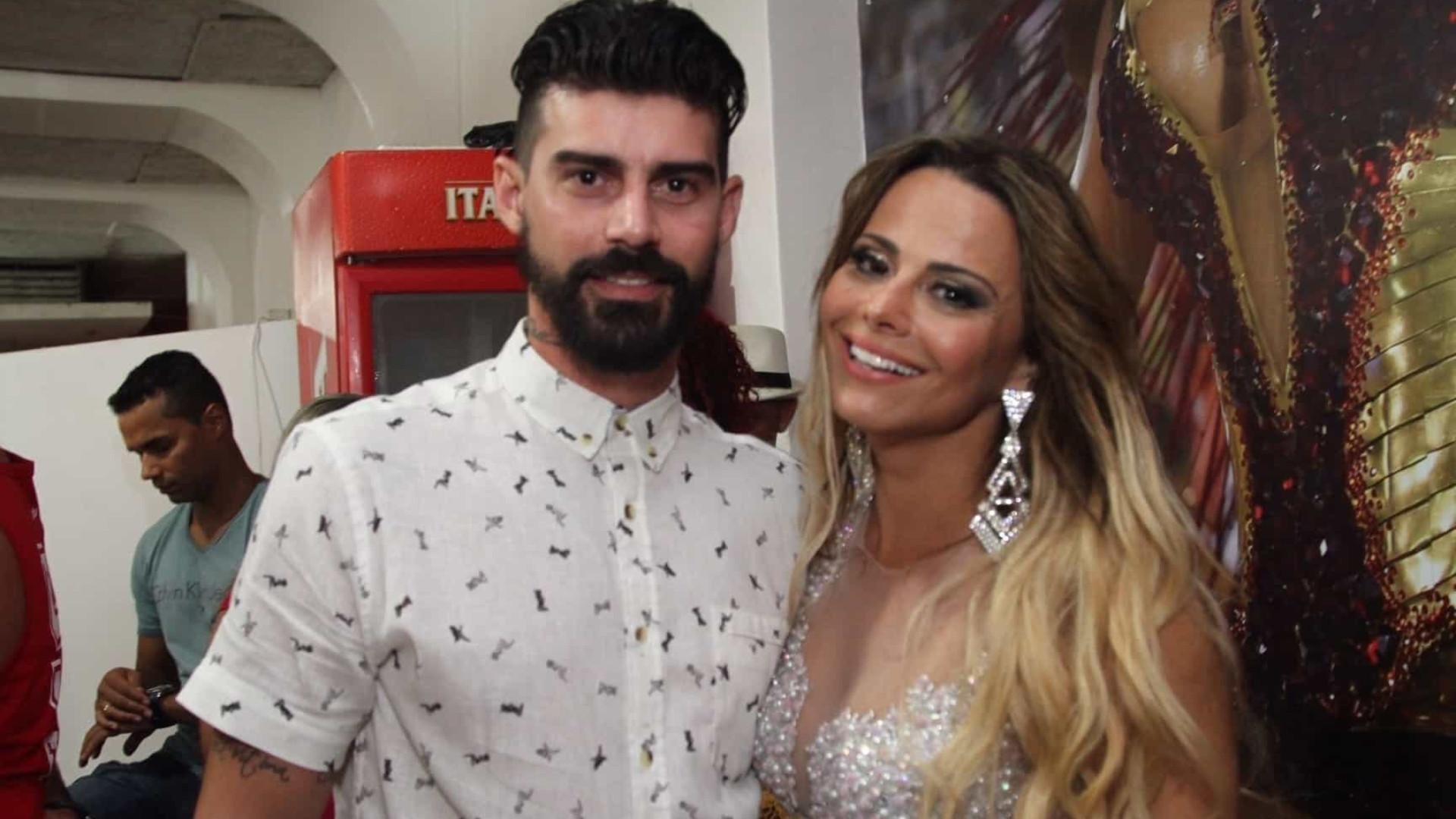 Viviane Araújo registra B.O. e vai processar esposa de Radamés