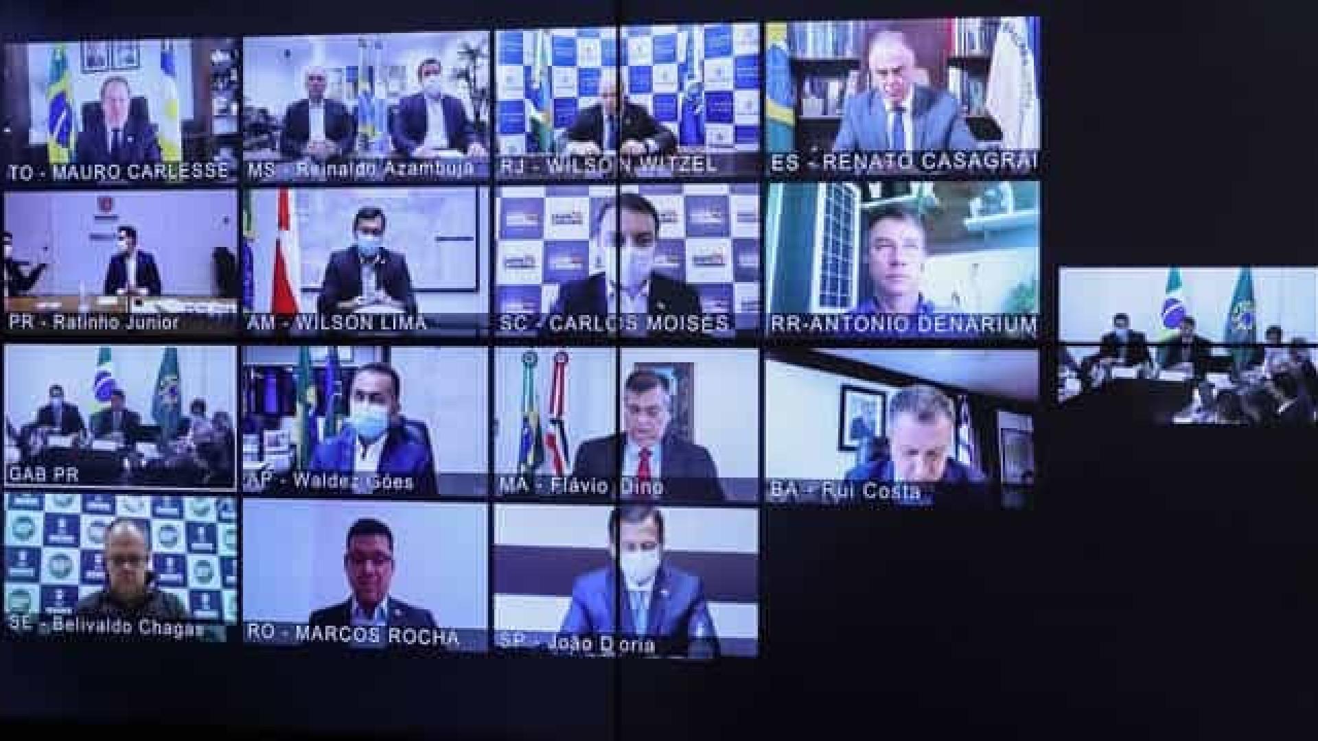 Bolsonaro: R$ 60 bi a governadores para combater novo coronavírus