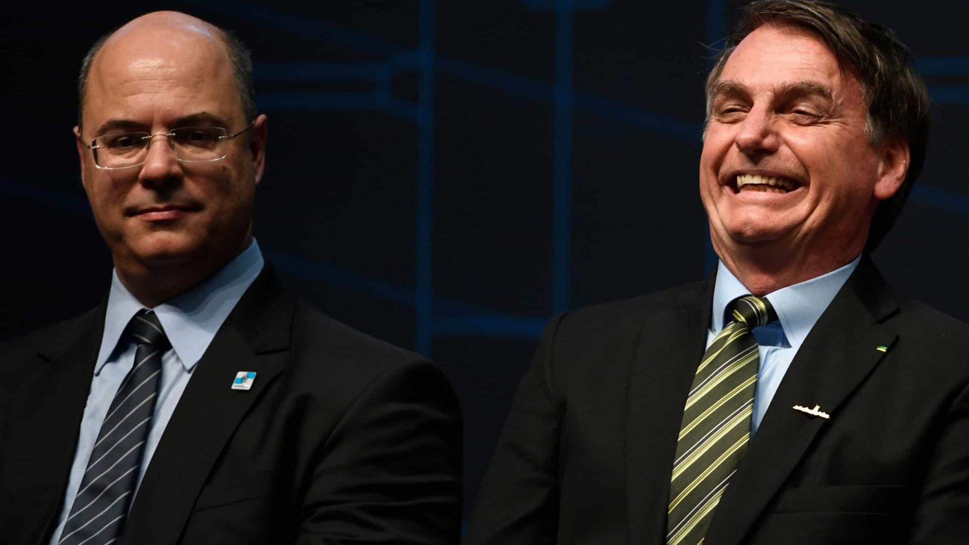 Parabéns à PF diz Bolsonaro sobre operação em residência de Witzel