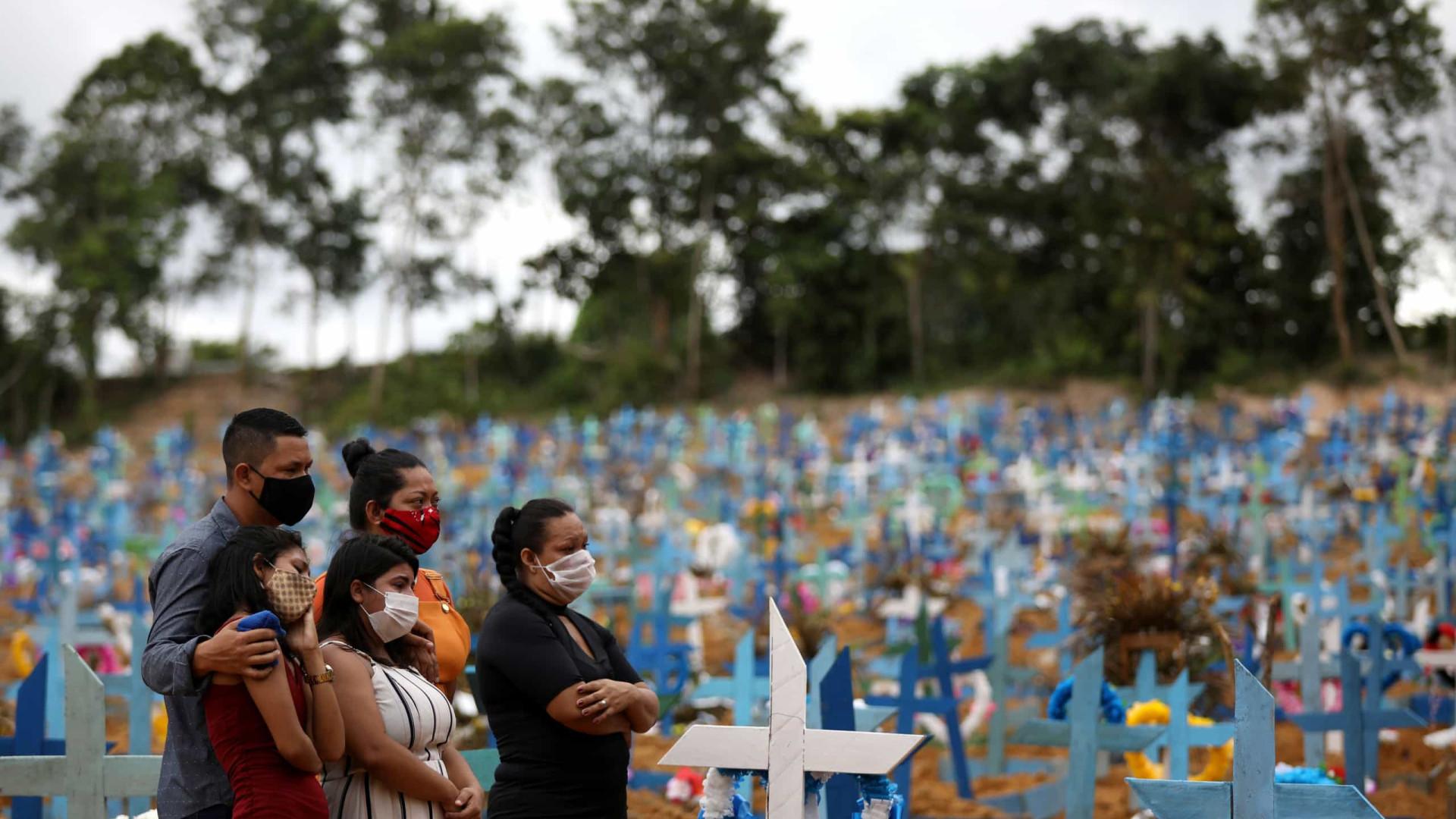 Saúde: Brasil registra 376 mortes por covid-19 em 24h; total é de 177.317 -