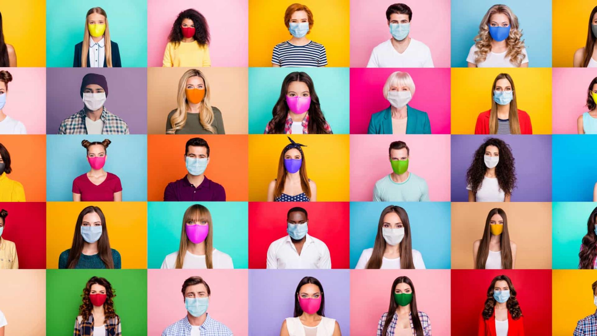 Um novo acessório da moda: as máscaras contra a Covid-19