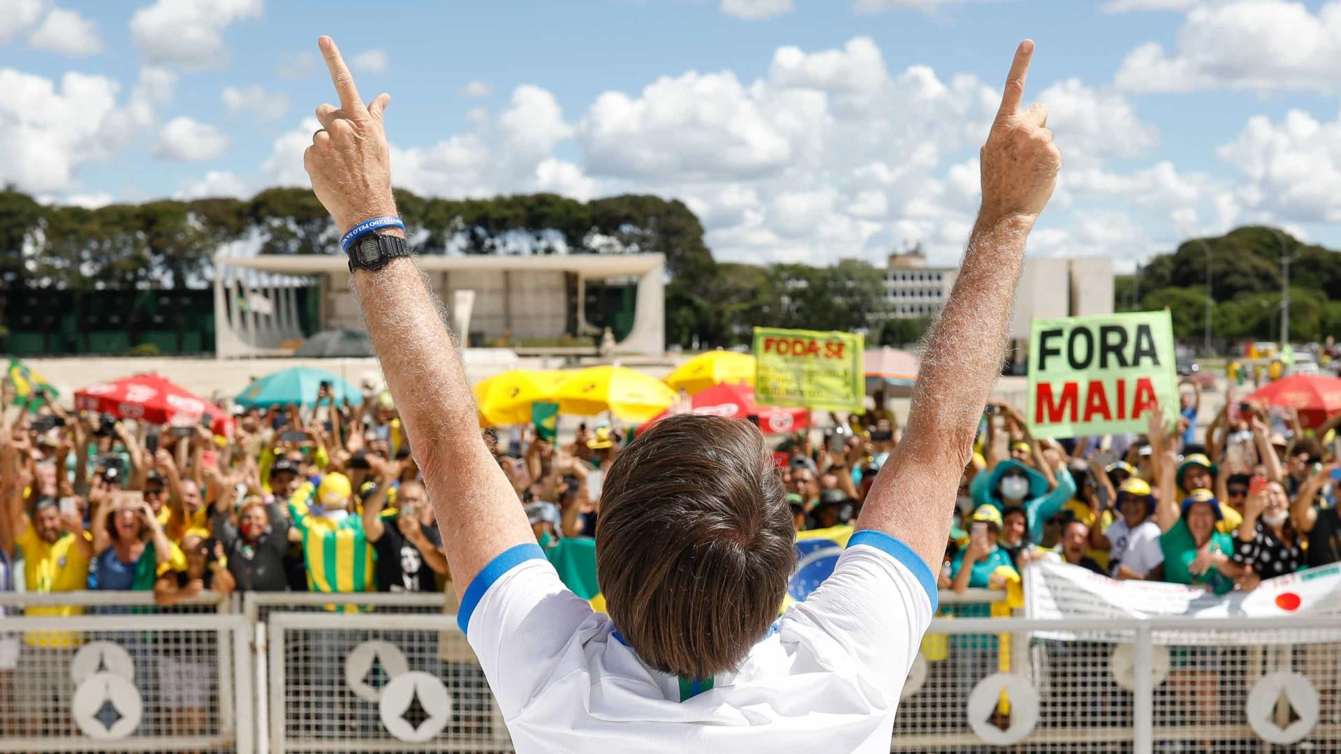Planalto teme atos de rua; 'terroristas', diz Bolsonaro