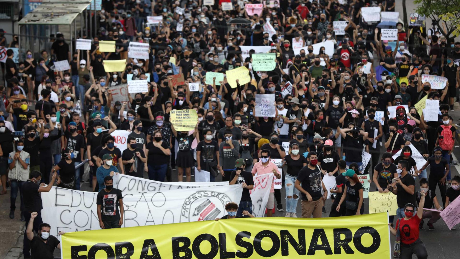 Bolsonaro pede ajuda de PMs e sugere Força Nacional em atos