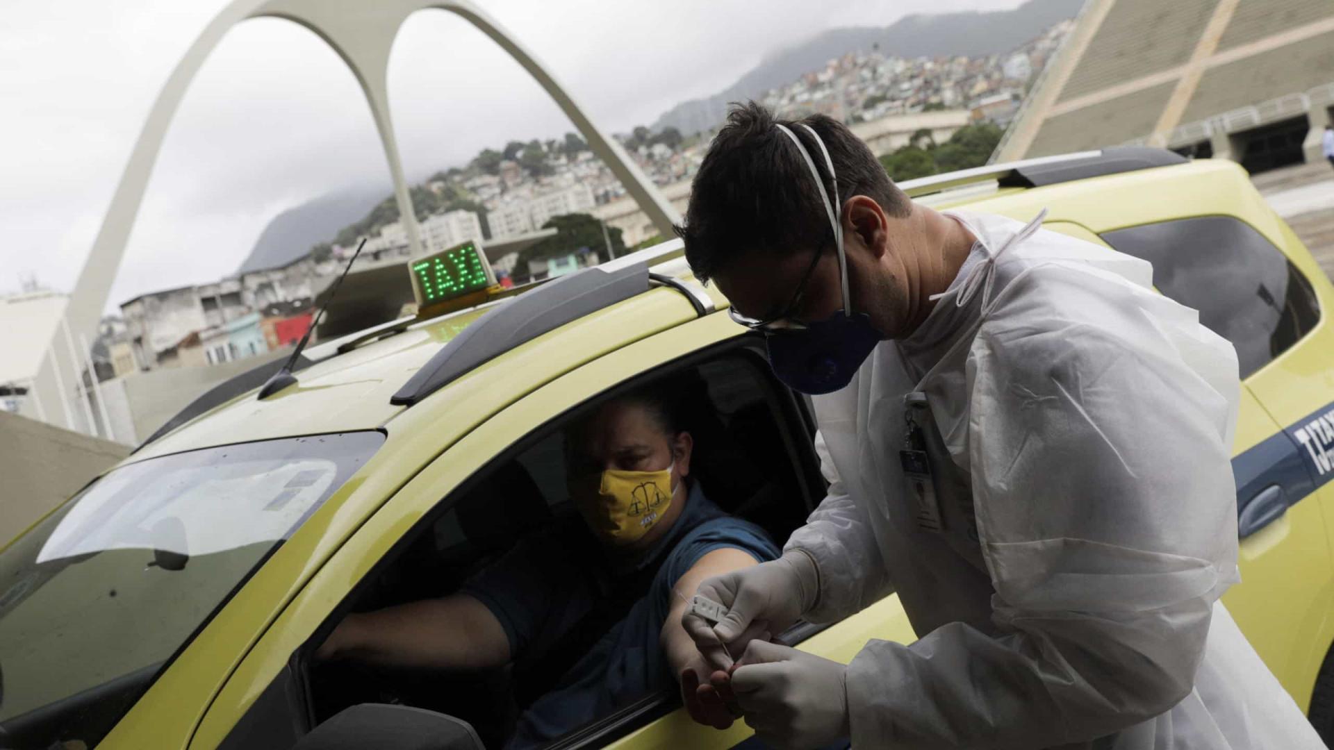 Prefeitura do Rio inicia testagem de cinco mil taxistas