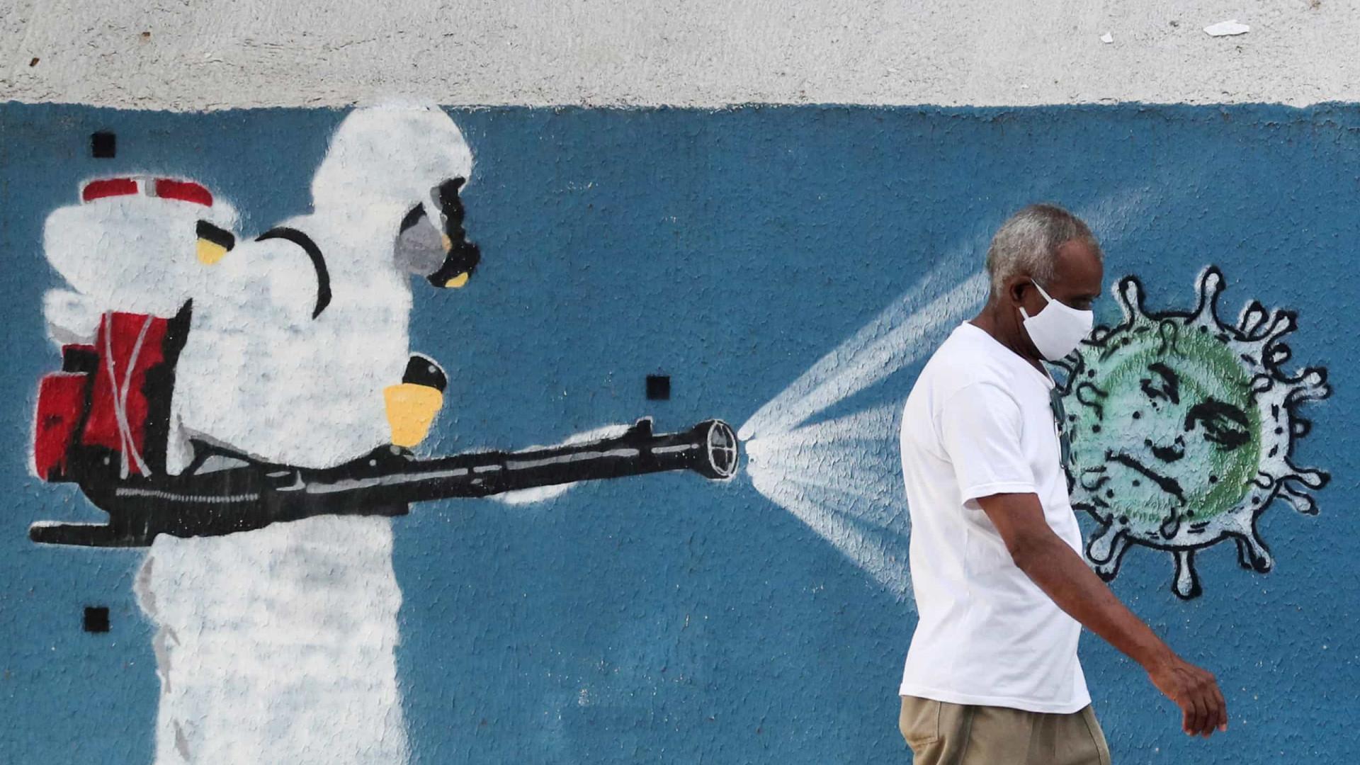Brasil tem 256 mortes pela covid em 24h; total de casos ultrapassa 21 milhões