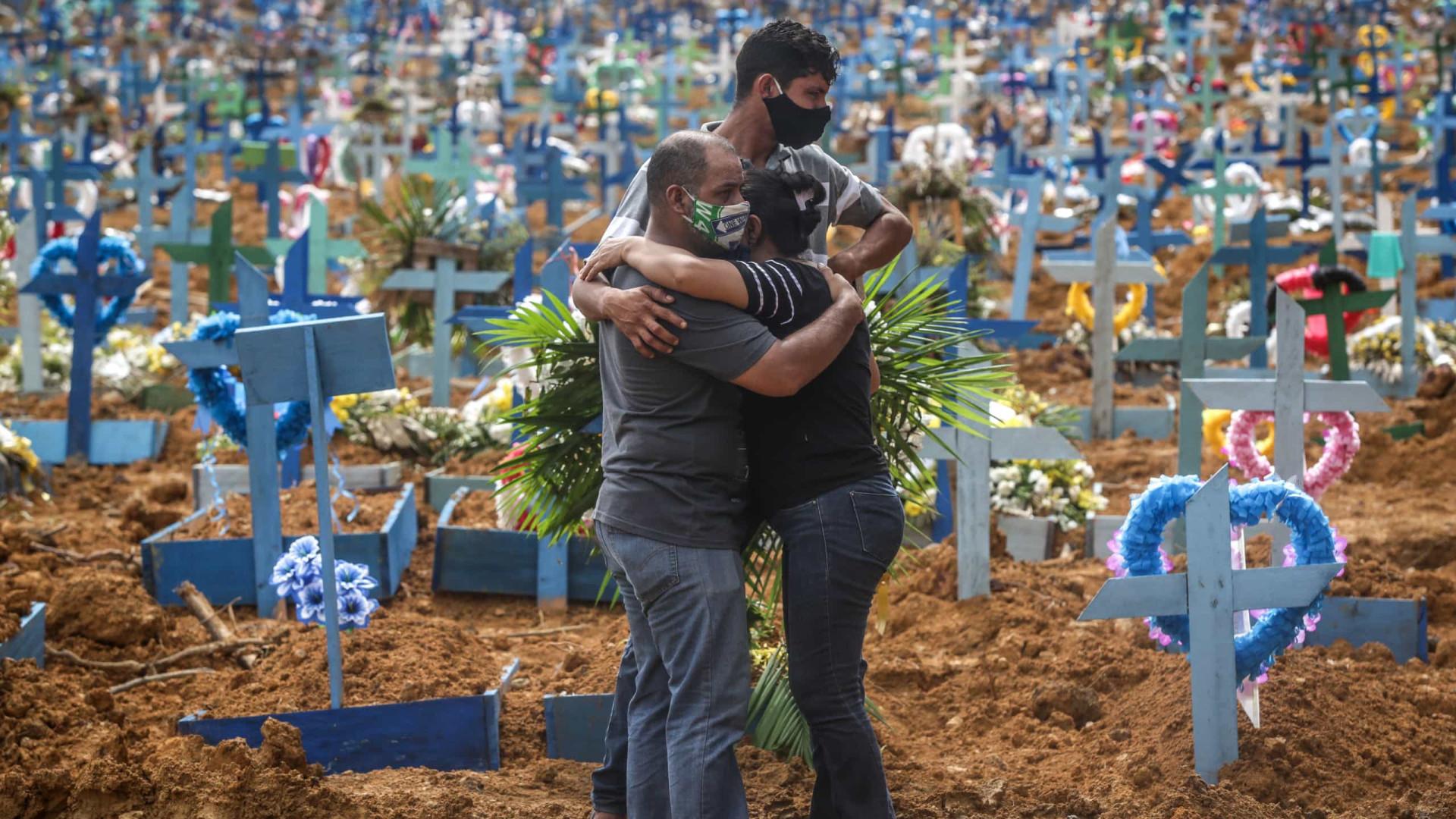 Brasil registra mais 3.163 mortes por Covid-19 em 24h