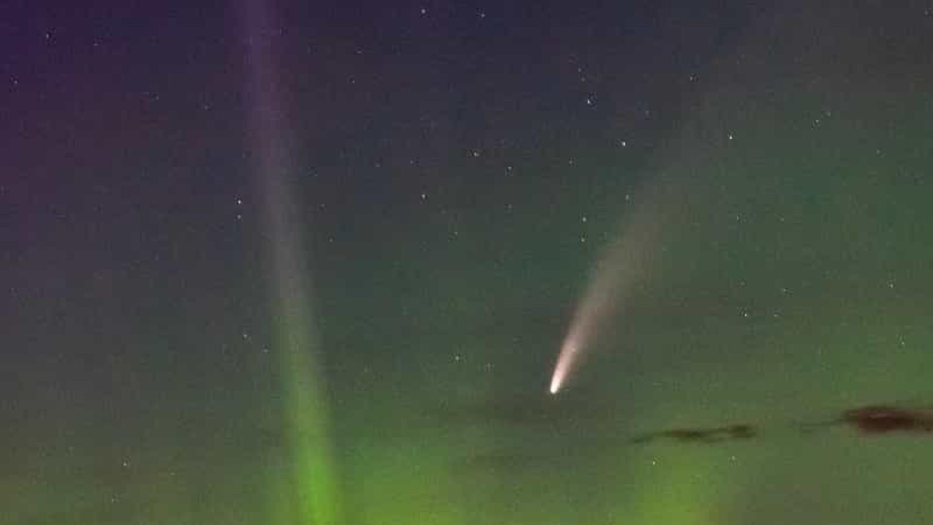 NASA partilha fotografia de cometa que está se aproximando da Terra