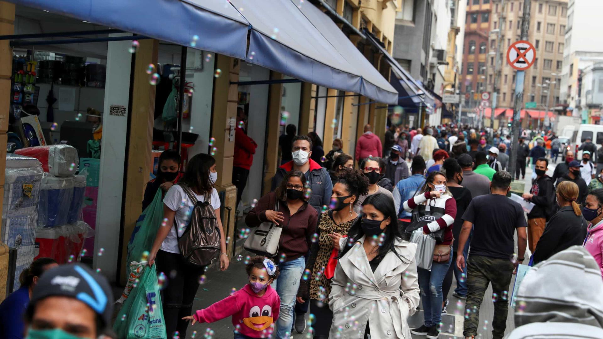 SP registra mais de 13 mil casos pela covid-19 nas últimas 24 horas