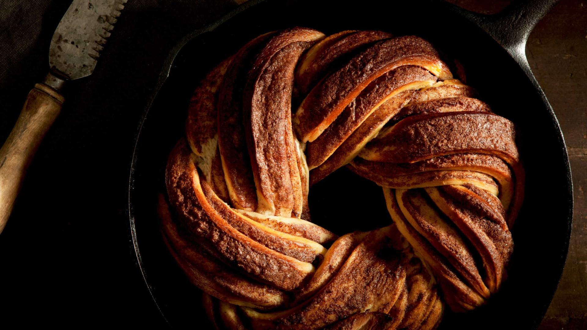 Aprenda a fazer  um delicioso pão de canela