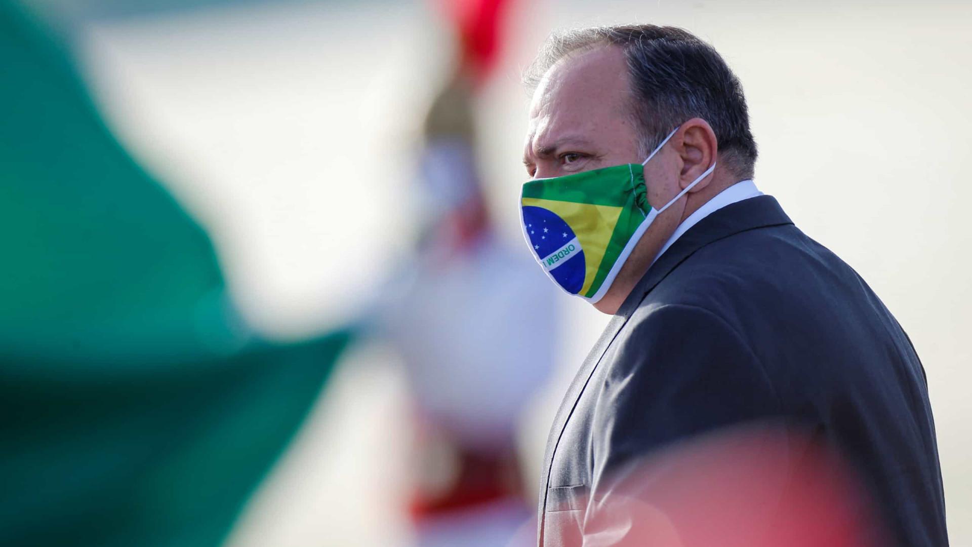 Ministro da Saúde Eduardo Pazuello testa positivo para covid-19