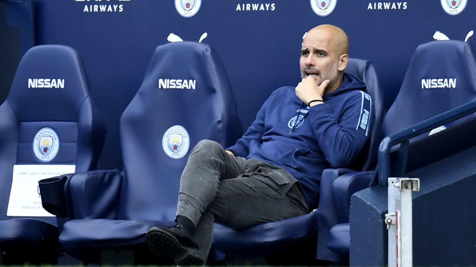 Guardiola não quer pensar em vantagem contra o Real na Champions