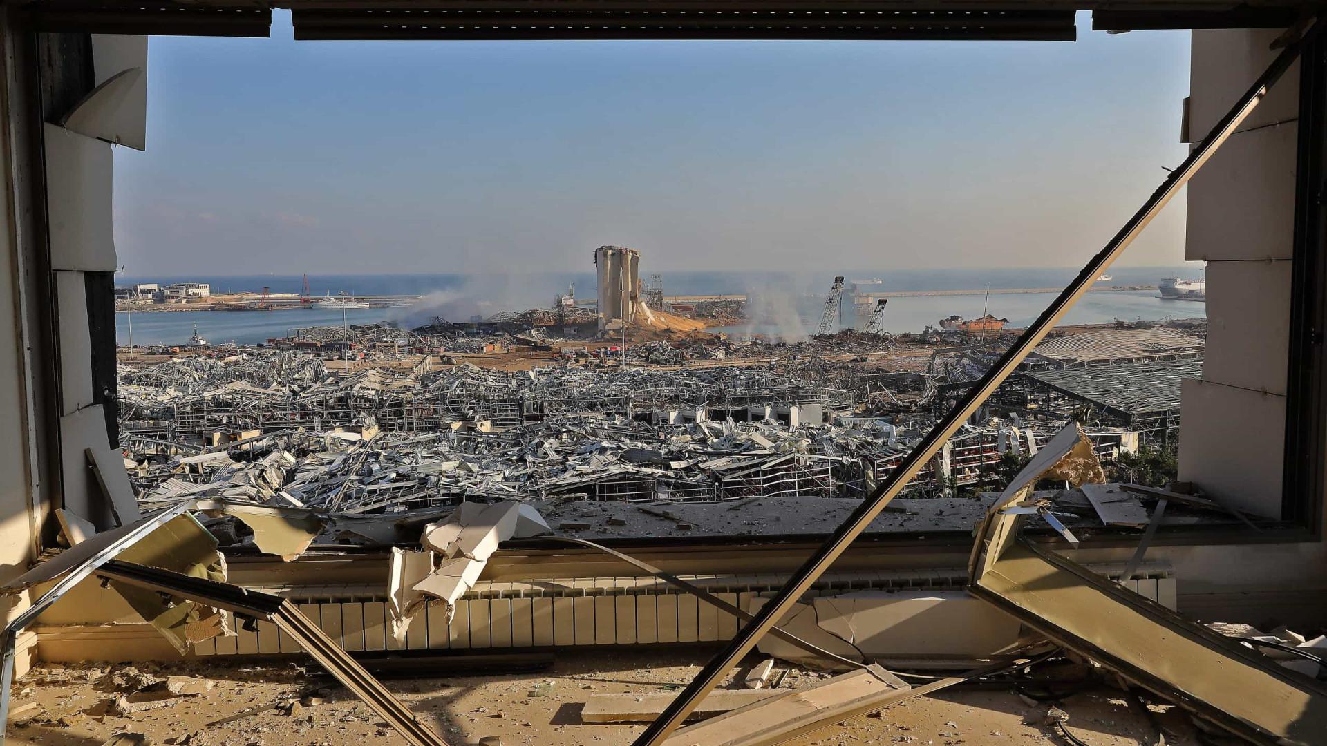 """Explosões em Beirute fizeram mais de 100 mortos: """"Catástrofe"""""""