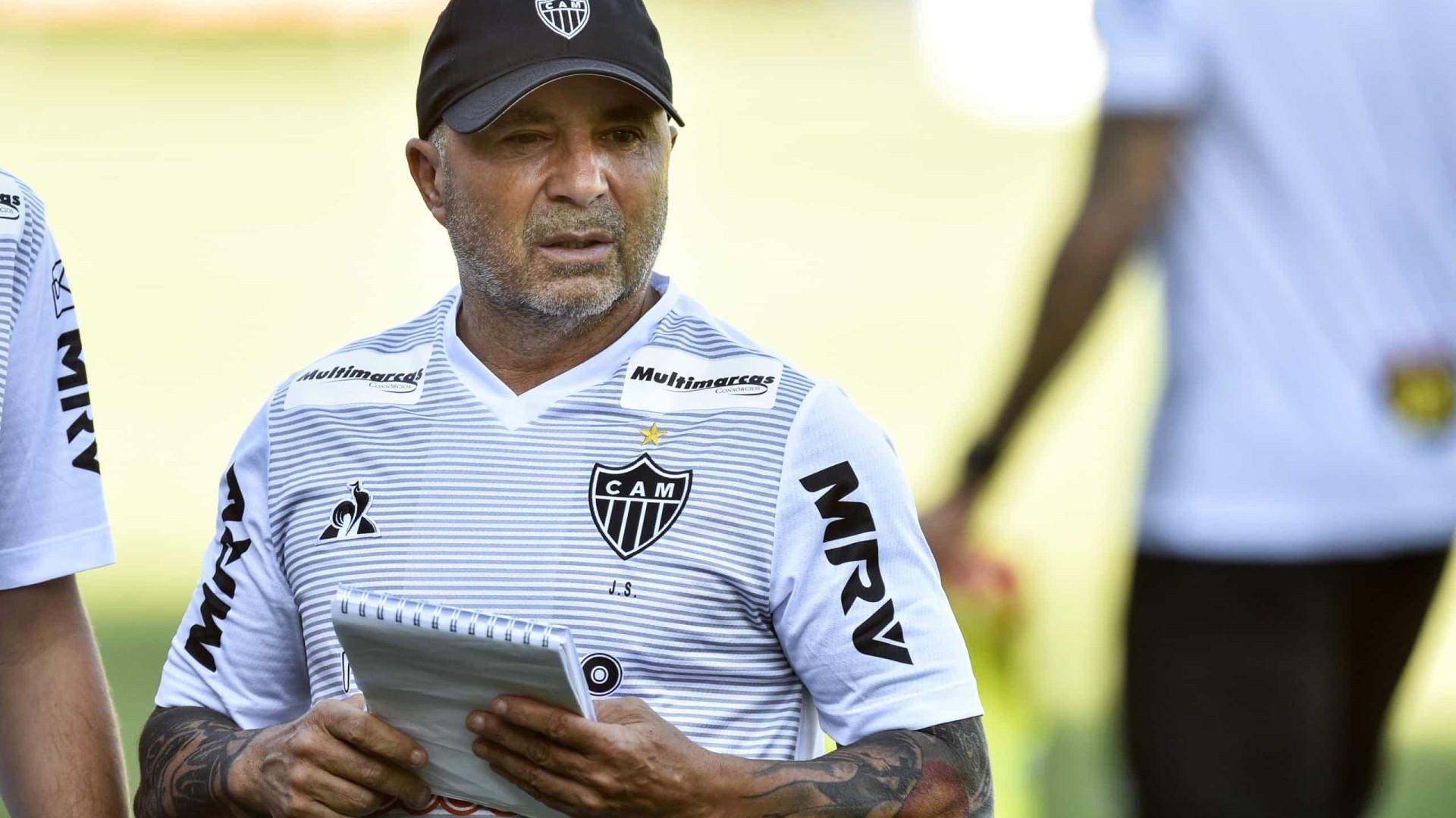 À espera da final do Mineiro, Sampaoli se preocupa com o Flamengo