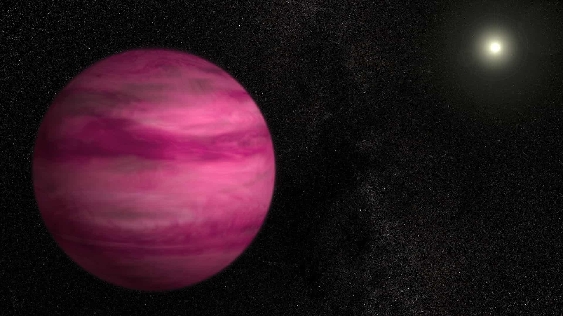 Planeta cor-de-rosa pode ser um dos mais bonitos avistados pela NASA