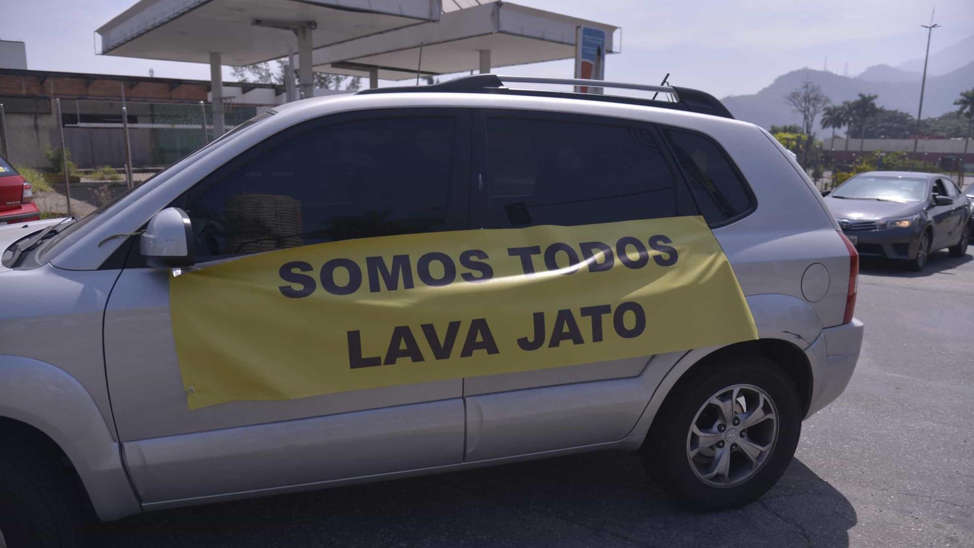 Apoiadores da Lava Jato fazem carreatas pelo país