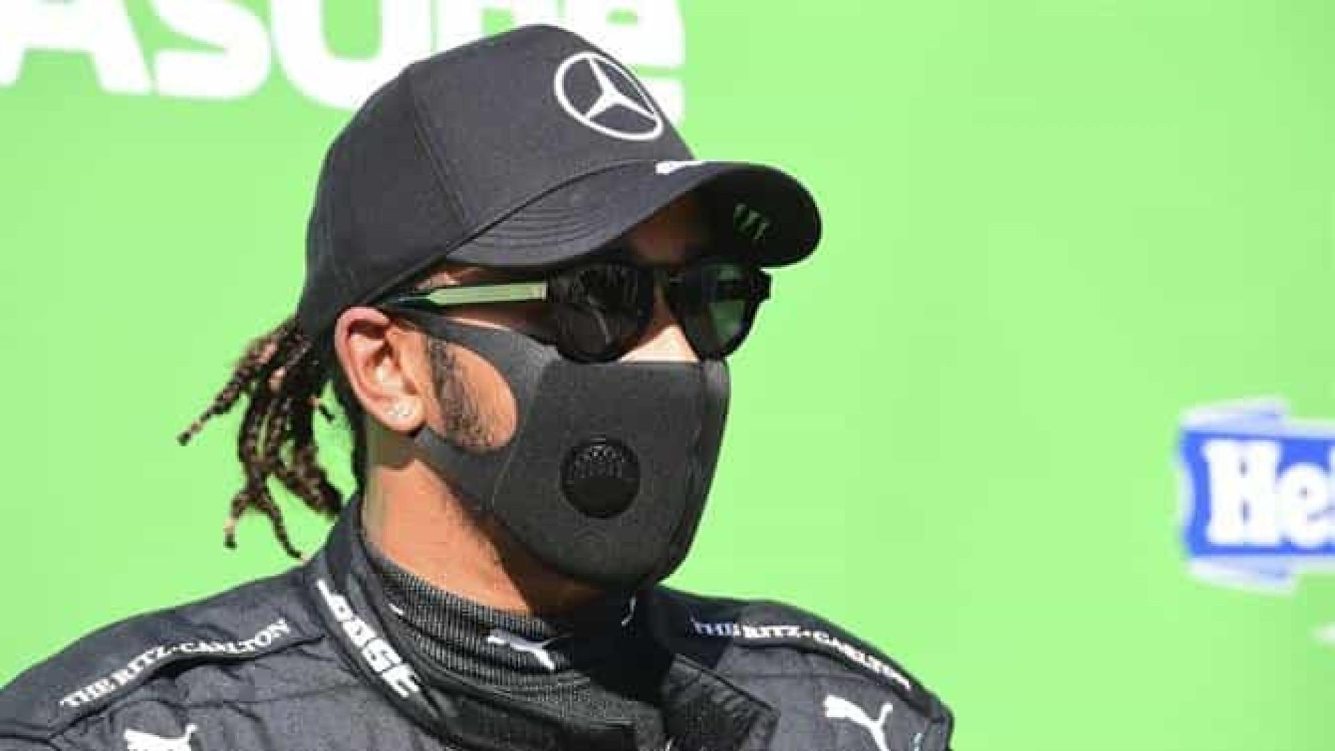 Hamilton assume erro por punição e se mostra satisfeito com o 7º lugar em Monza