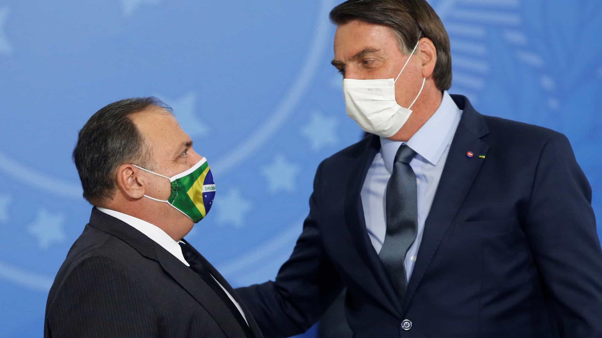 Por provas, MPF salva vídeos em que Bolsonaro e Pazuello divulgam tratamento precoce