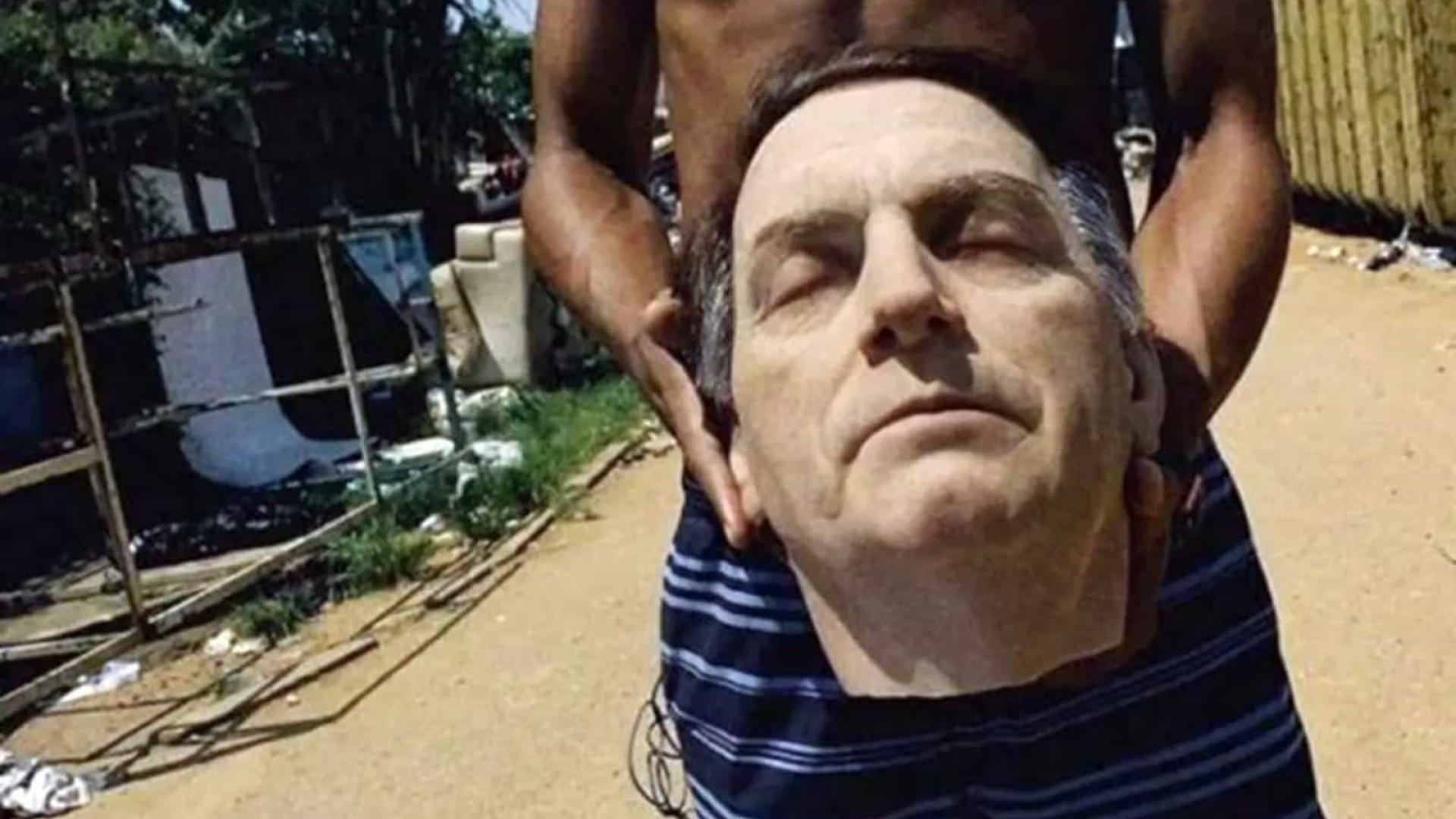 Pelada com cabeça de Bolsonaro rende ameaças de morte a coletivo