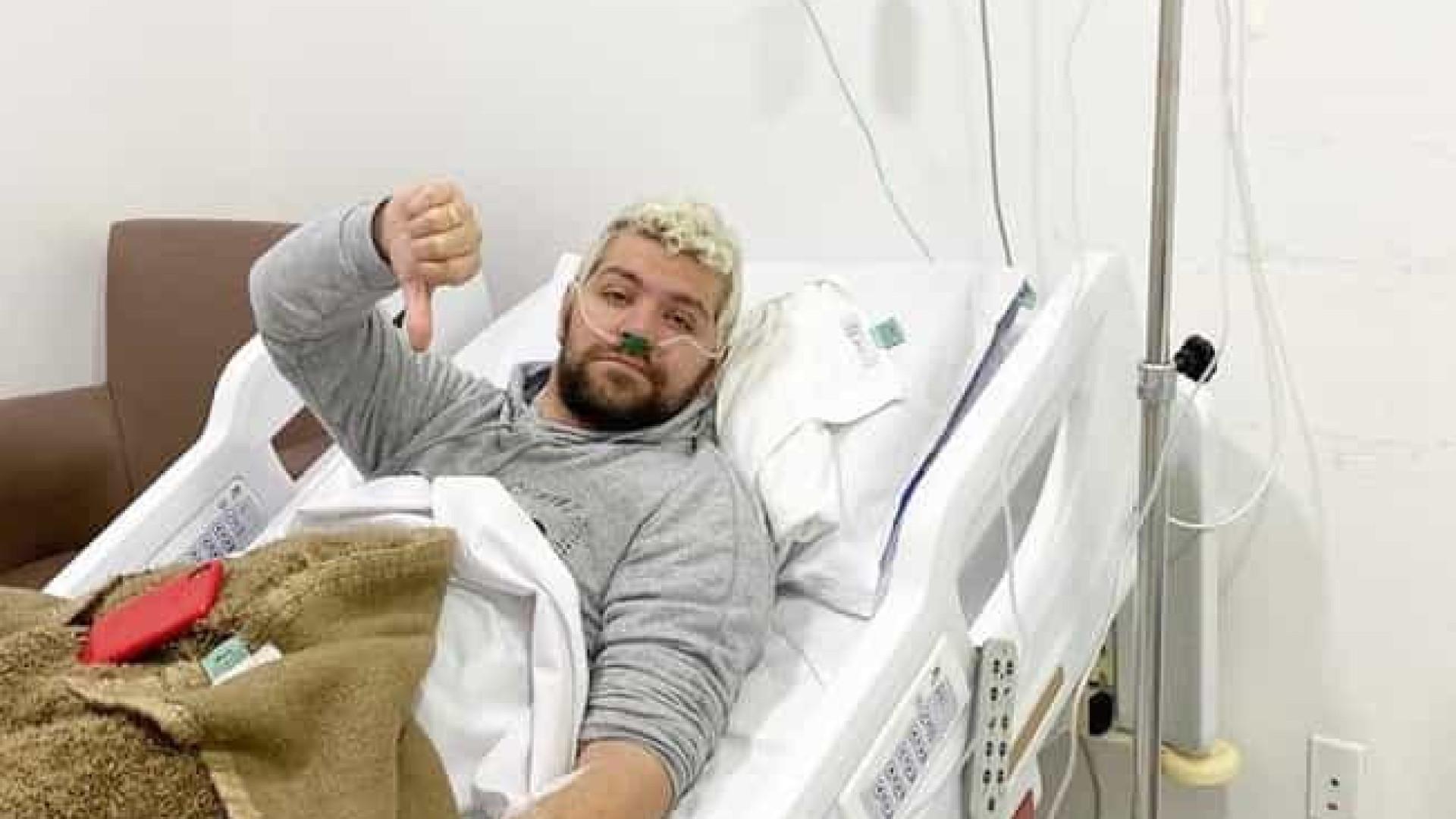 Victor Sarro passa mal durante gravação de Rodrigo Faro e é internado