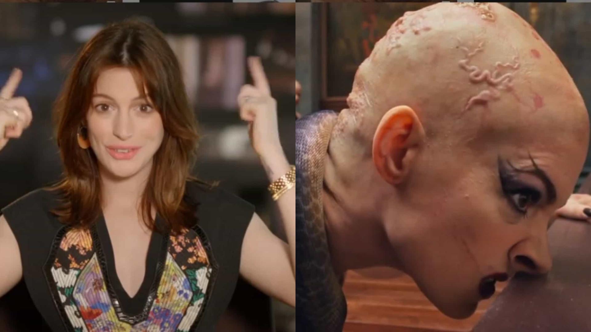 Anne Hathaway surge irreconhecível em novo filme