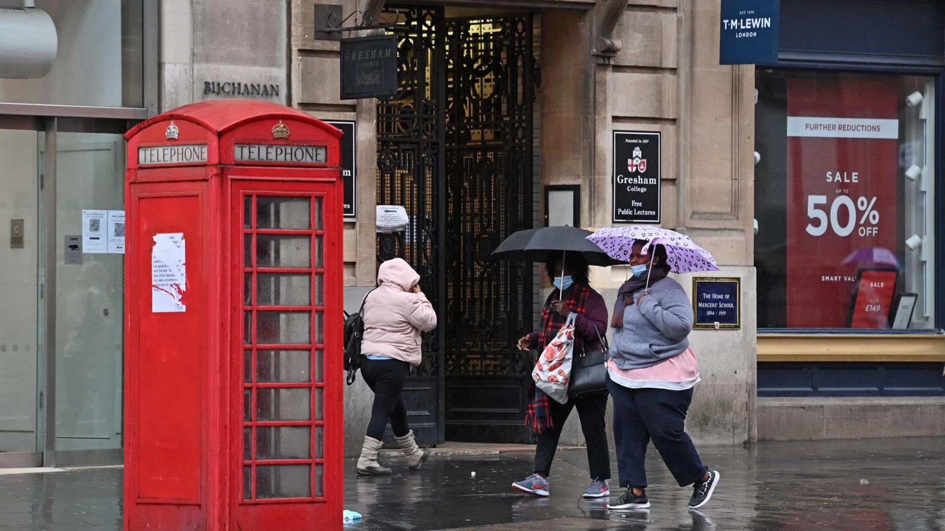 Covid-19: Reino Unido registra mais 16.022 infectados e 521 mortes