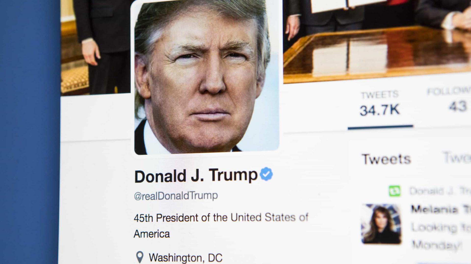 Twitter põe alerta de conteúdo incorreto em publicação de Trump sobre voto por correio