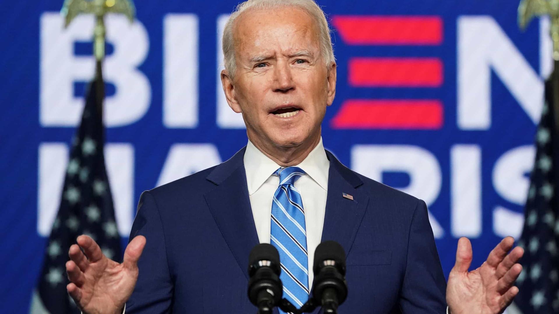 Joe Biden diz que será o presidente de todos os americanos