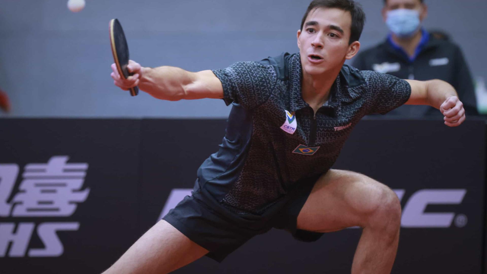 Após completar mil jogos como profissional, Hugo Calderano perde no ITTF Finals