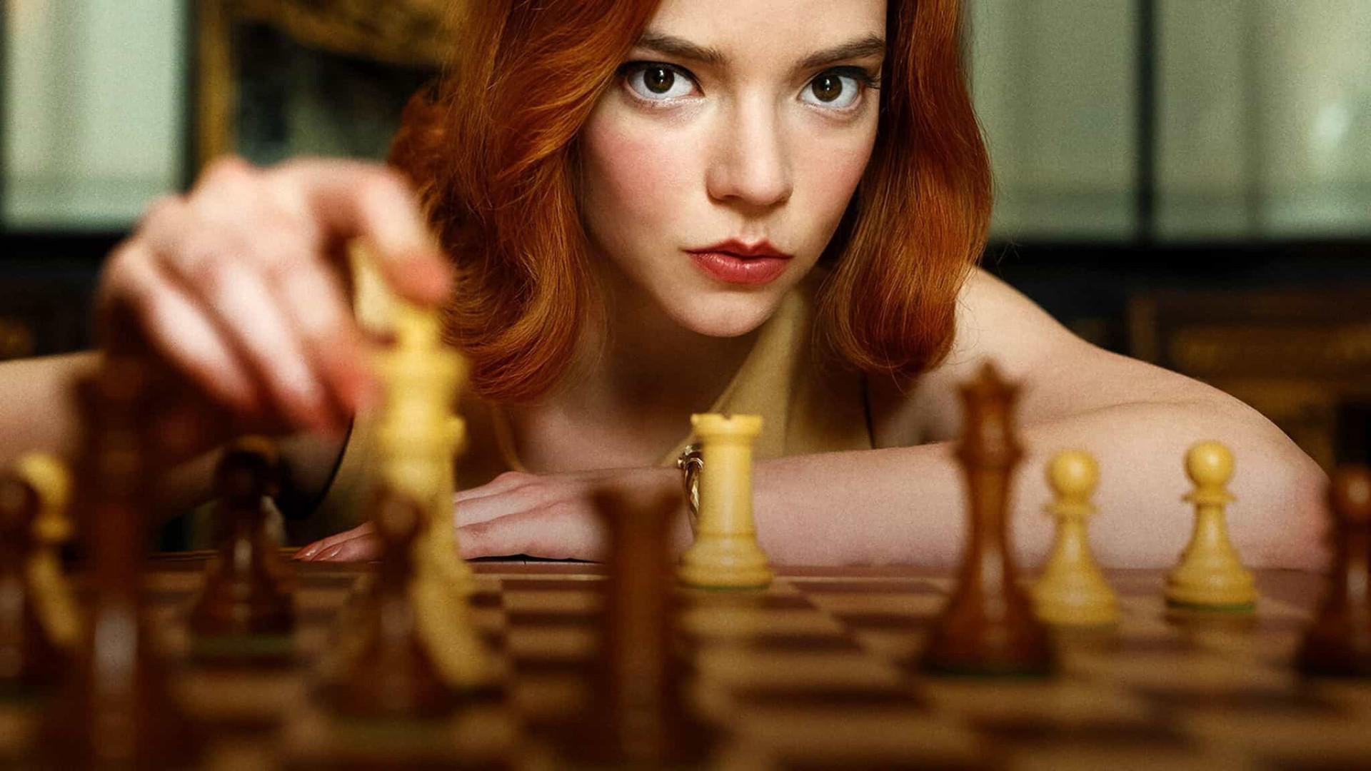 'O Gambito da Rainha' é série original mais vista em toda a história da Netflix