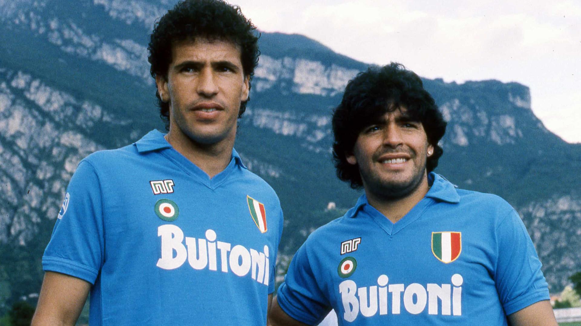Maradona viveu estreita amizade com Careca dentro e fora de campo