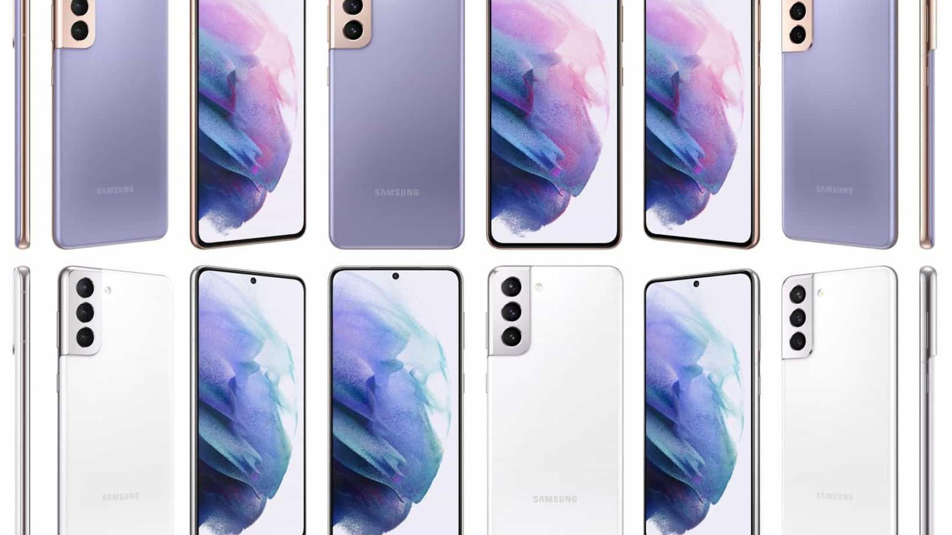 Imagem mostra todas as cores do Galaxy S21