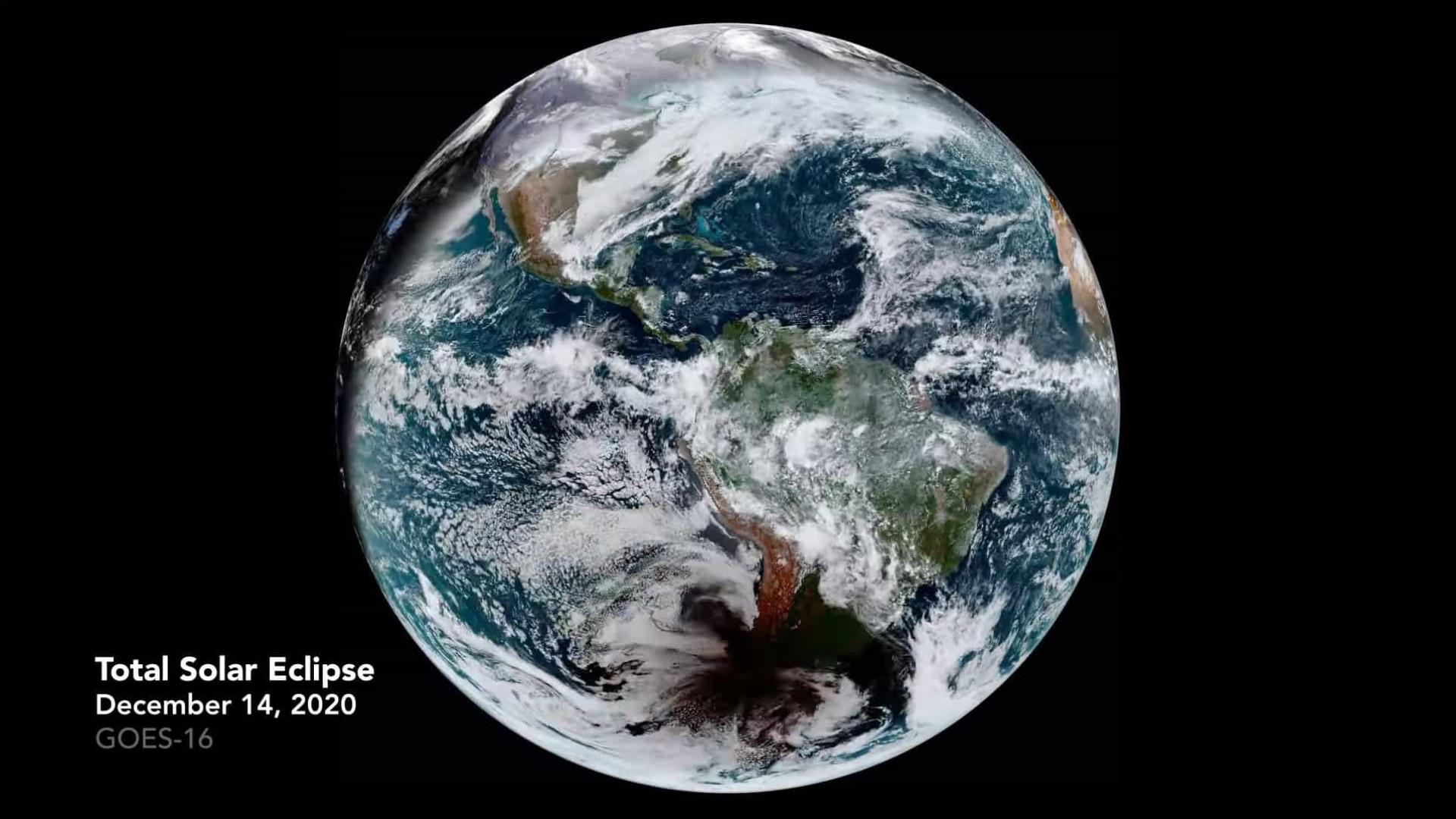 Vídeo mostra um eclipse solar visto do Espaço