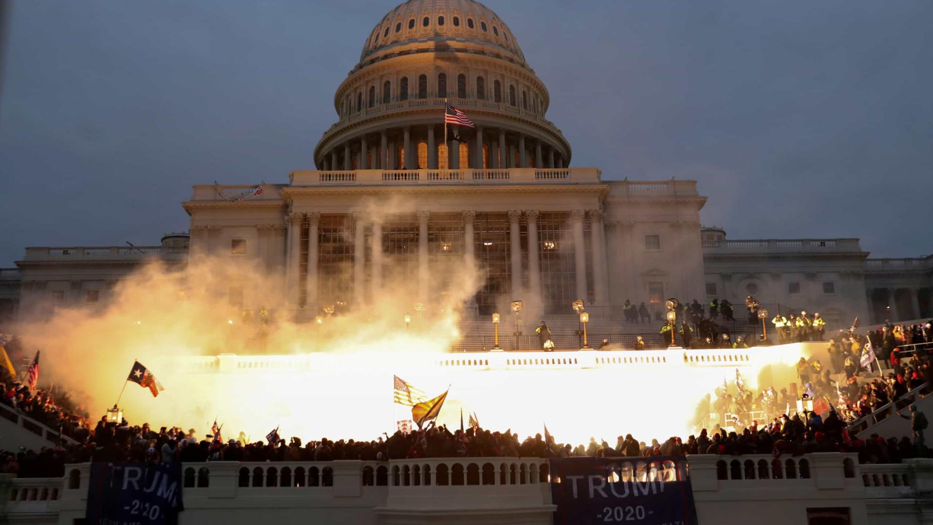 EUA. As imagens do caos que virou o Capitólio