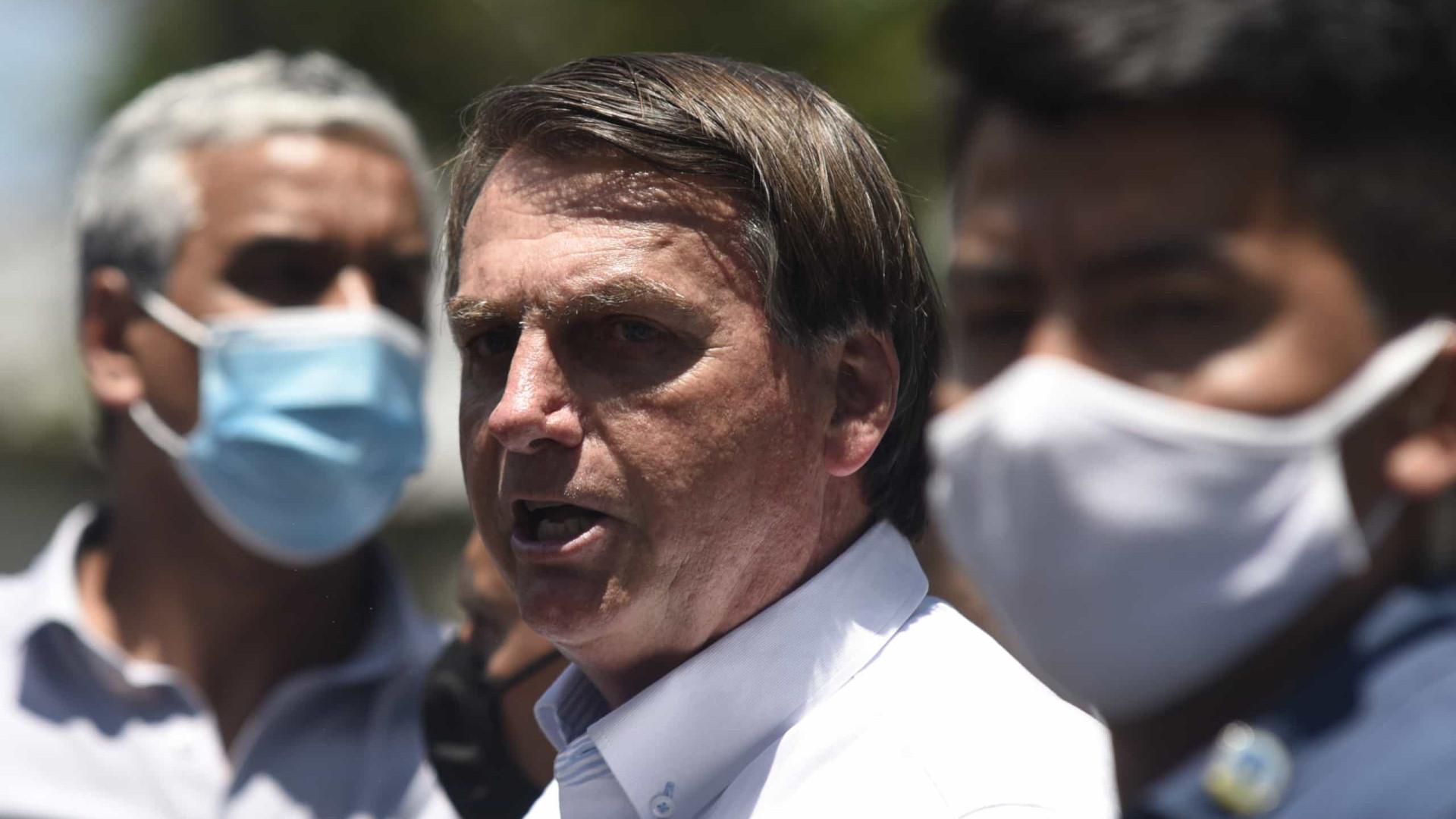 'A vacina é do Brasil, não é de nenhum governador', diz Bolsonaro sobre Doria