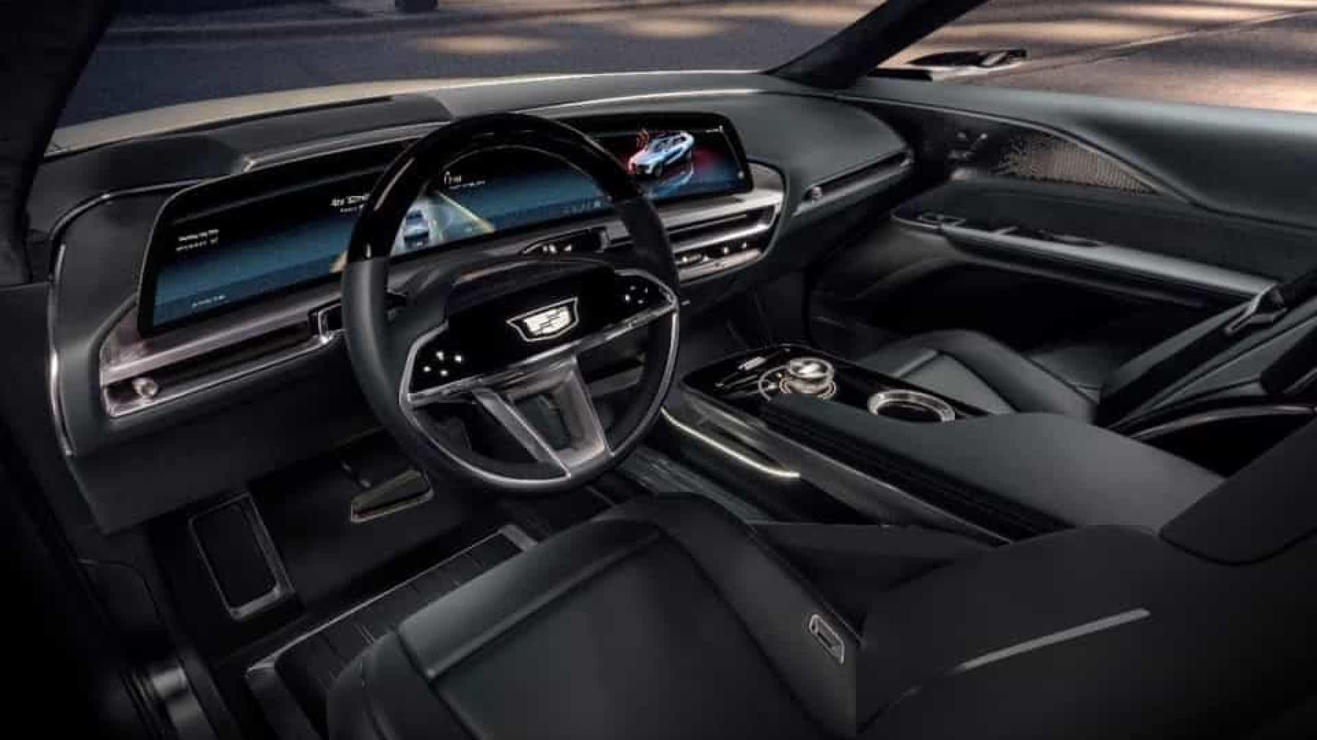 General Motors revela interior do Cadillac elétrico