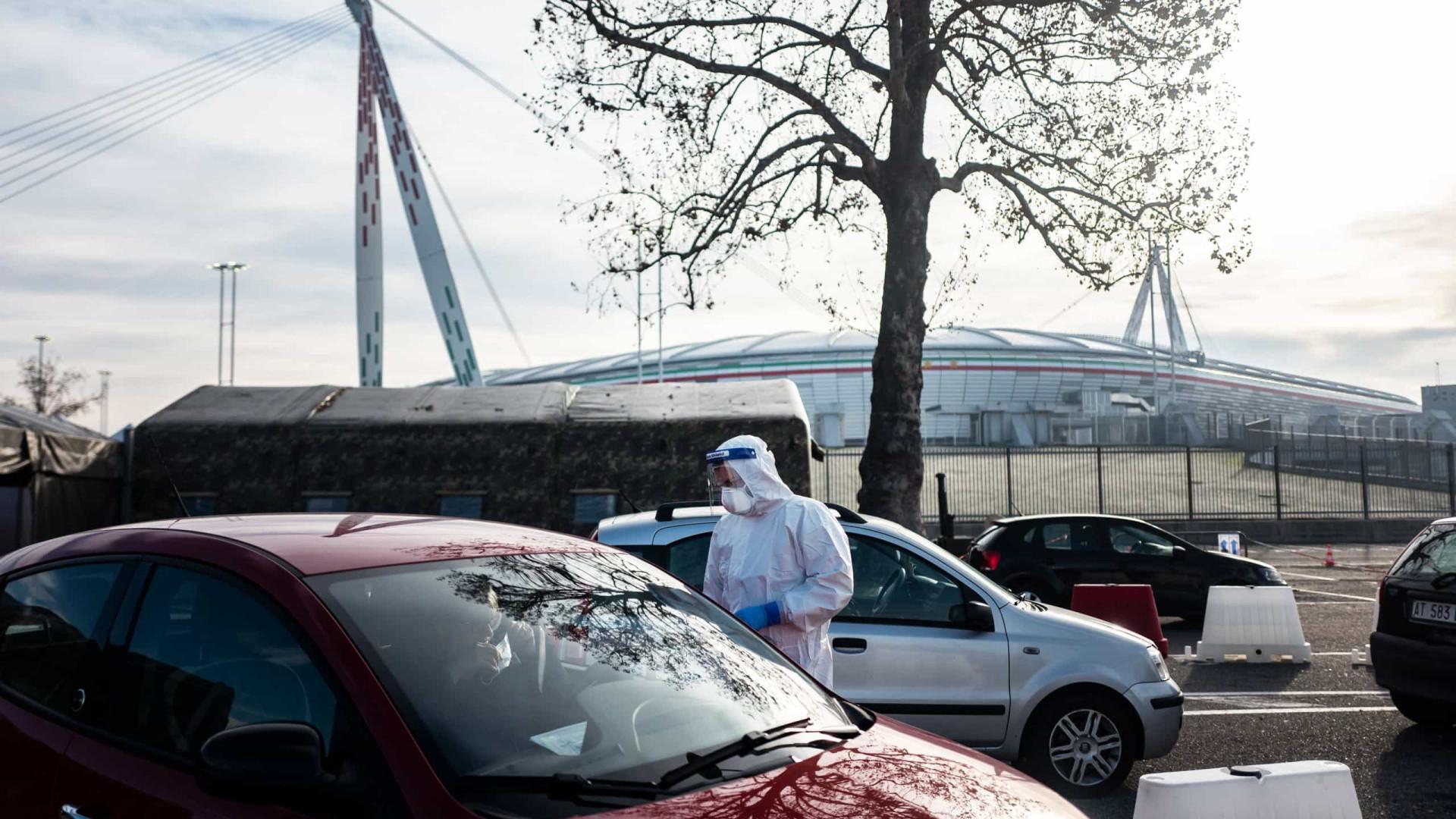 Detectados mais de 14 mil novos casos na Itália. Morreram 616 pessoas