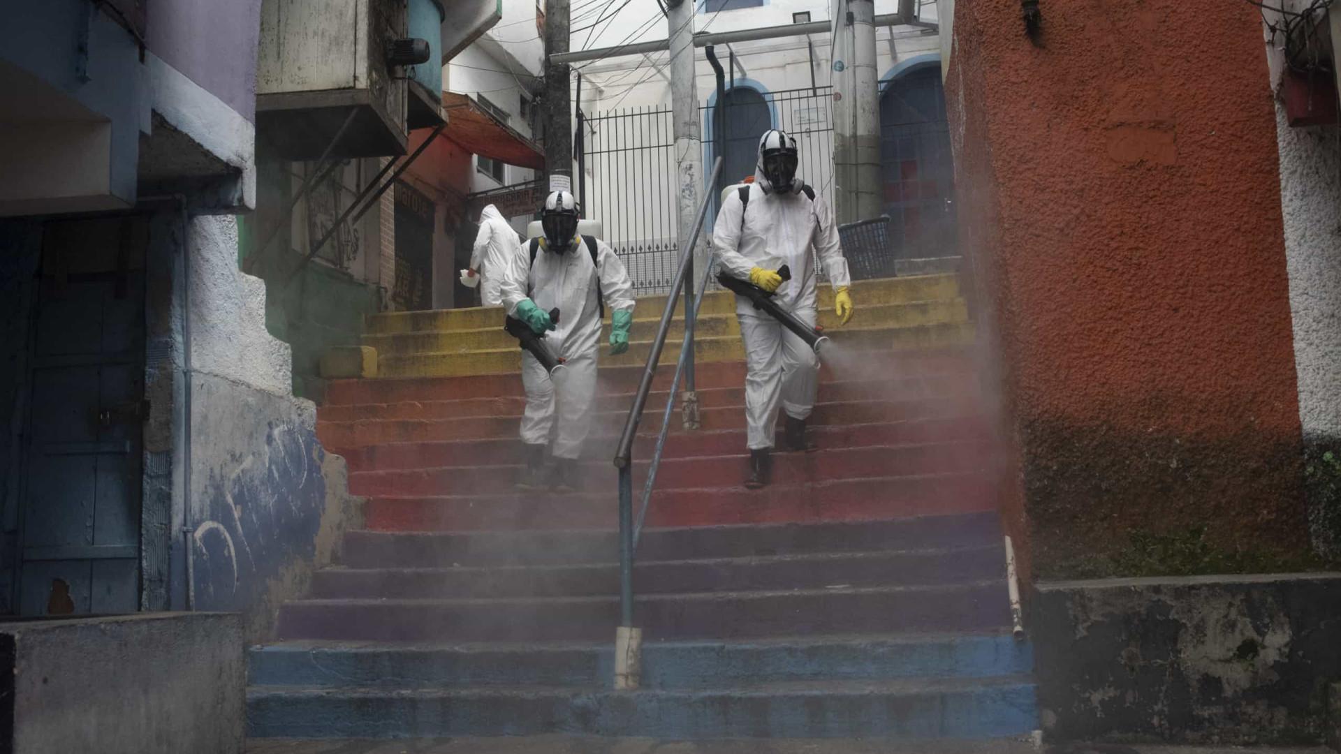 Brasil com mais 64 mil novos casos e 1.110 mortes nas últimas 24 horas
