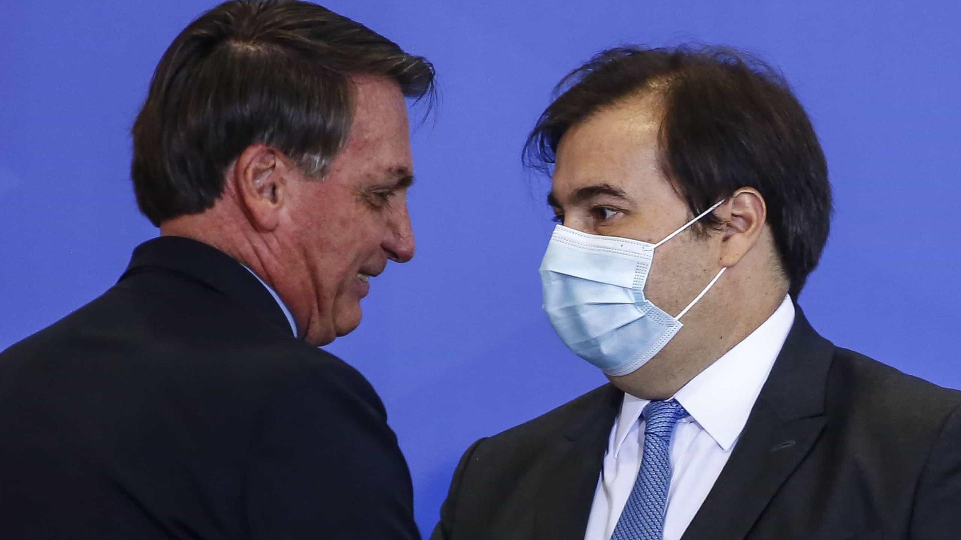 Veja troca de farpas entre Bolsonaro e Maia ao longo do governo