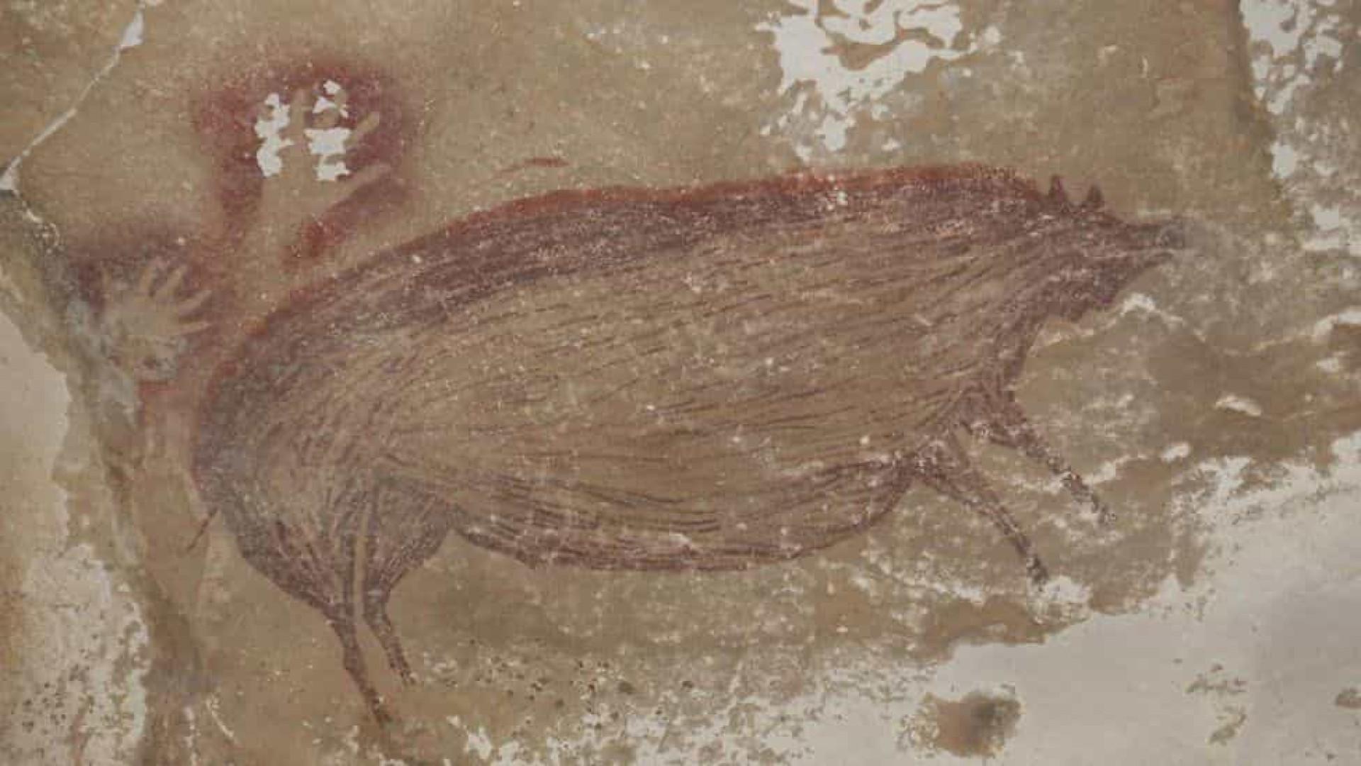 Pintura rupestre mais antiga do mundo é encontrada na Indonésia