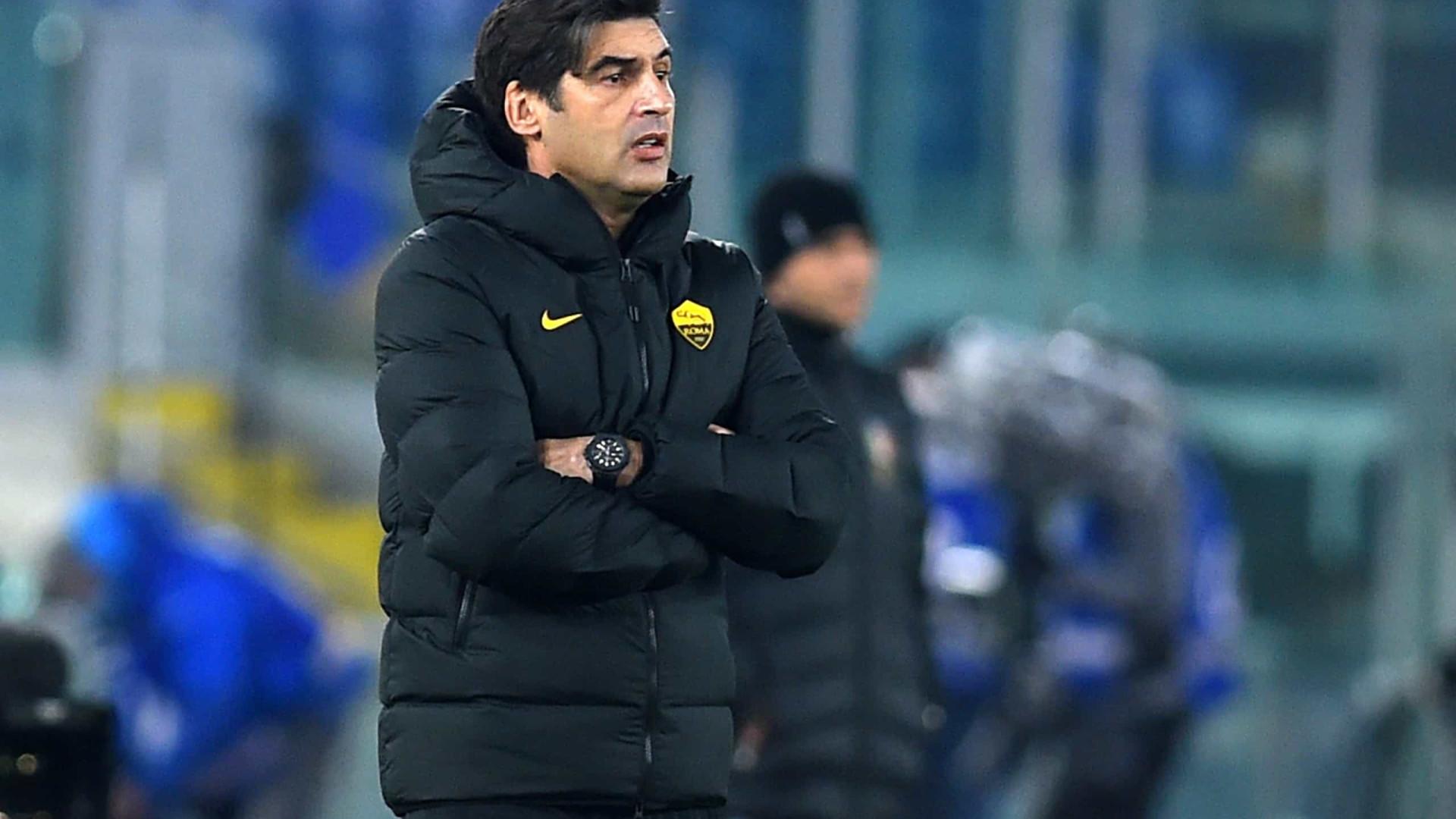 Técnico da Roma reconhece erro ao fazer 6 trocas: 'Vamos discutir internamente'