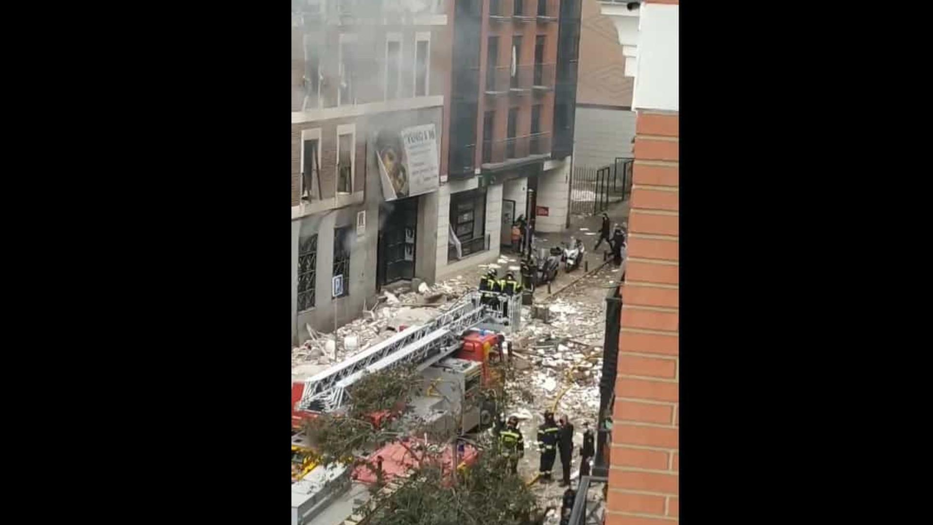Explosão em edifício no centro de Madrid deixa pelo menos três mortos
